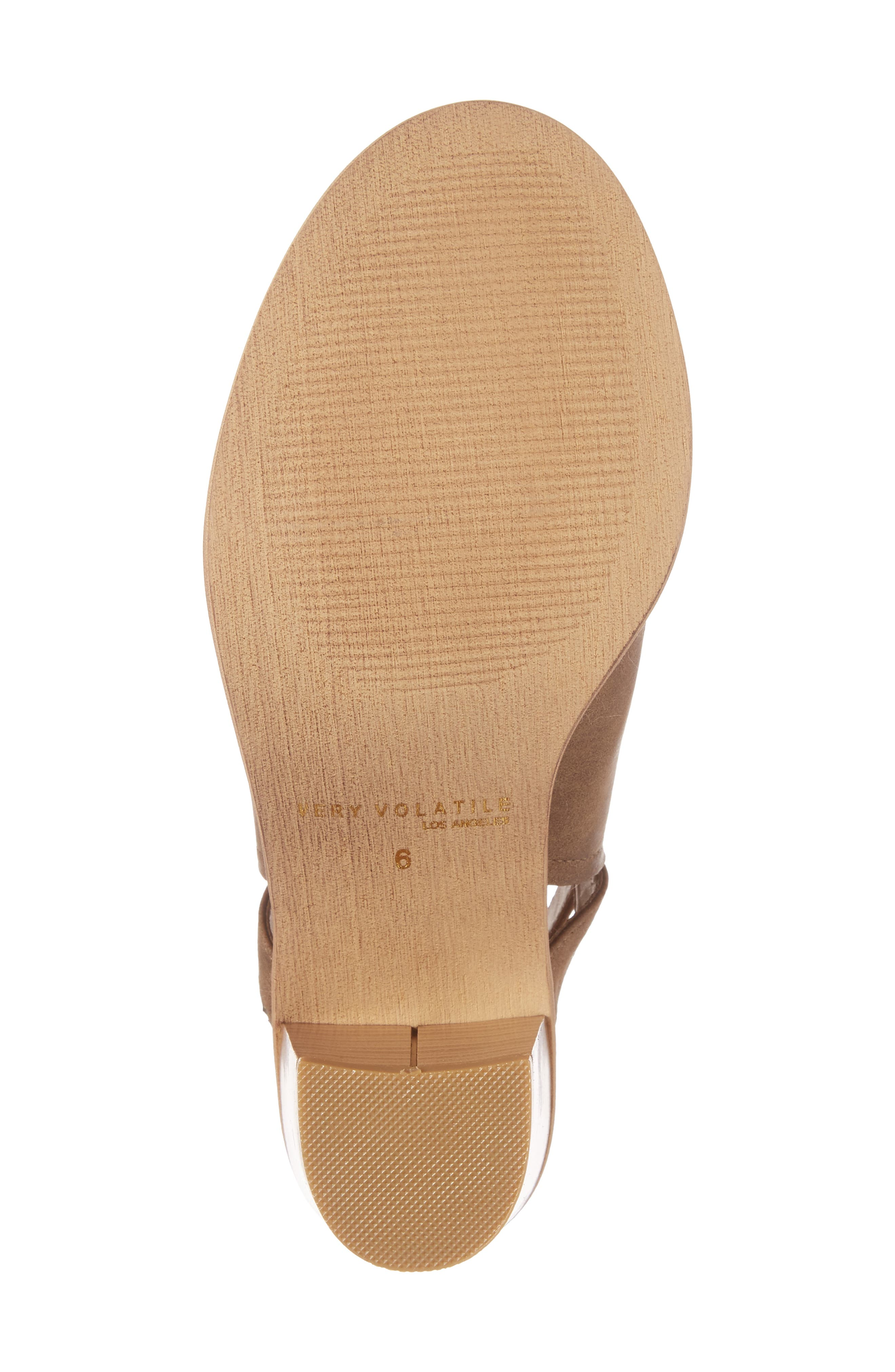 Bolten Sandal,                             Alternate thumbnail 6, color,                             Taupe Faux Leather