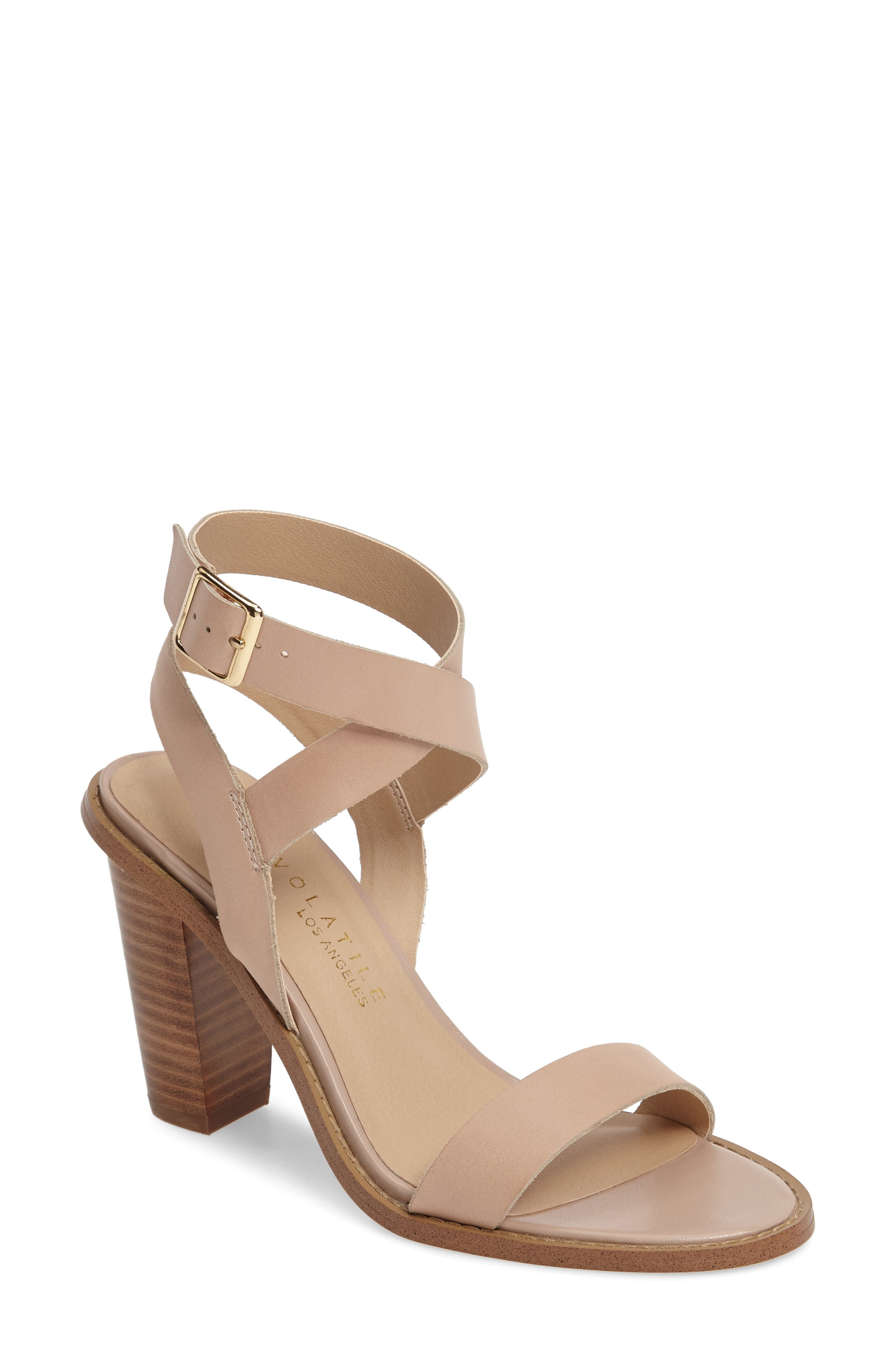 Alternate Image 1 Selected - Very Volatile Poshy Ankle Wrap Sandal (Women)