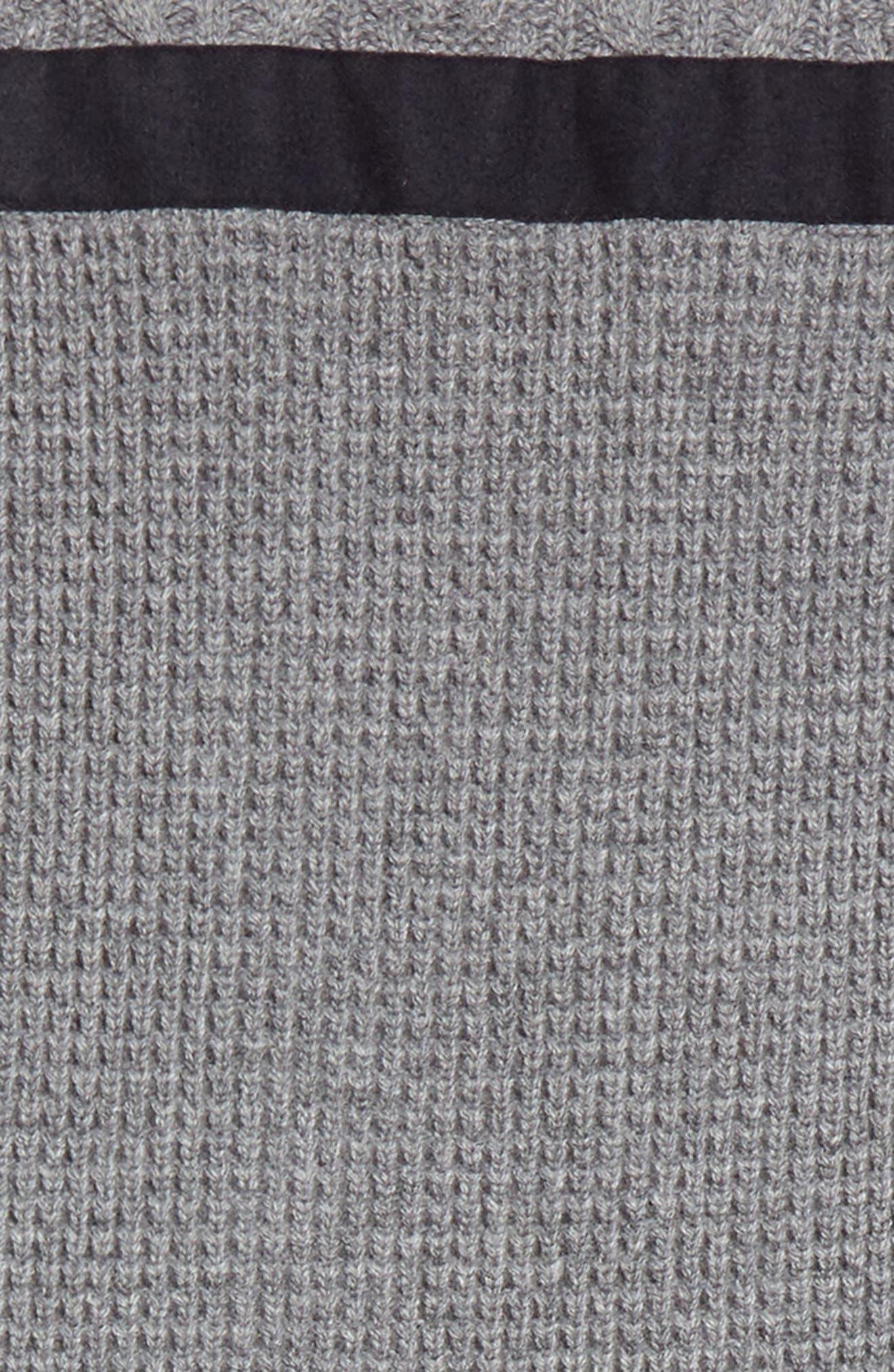 Textured Wool & Cashmere Scarf,                             Alternate thumbnail 2, color,                             Medium Grey