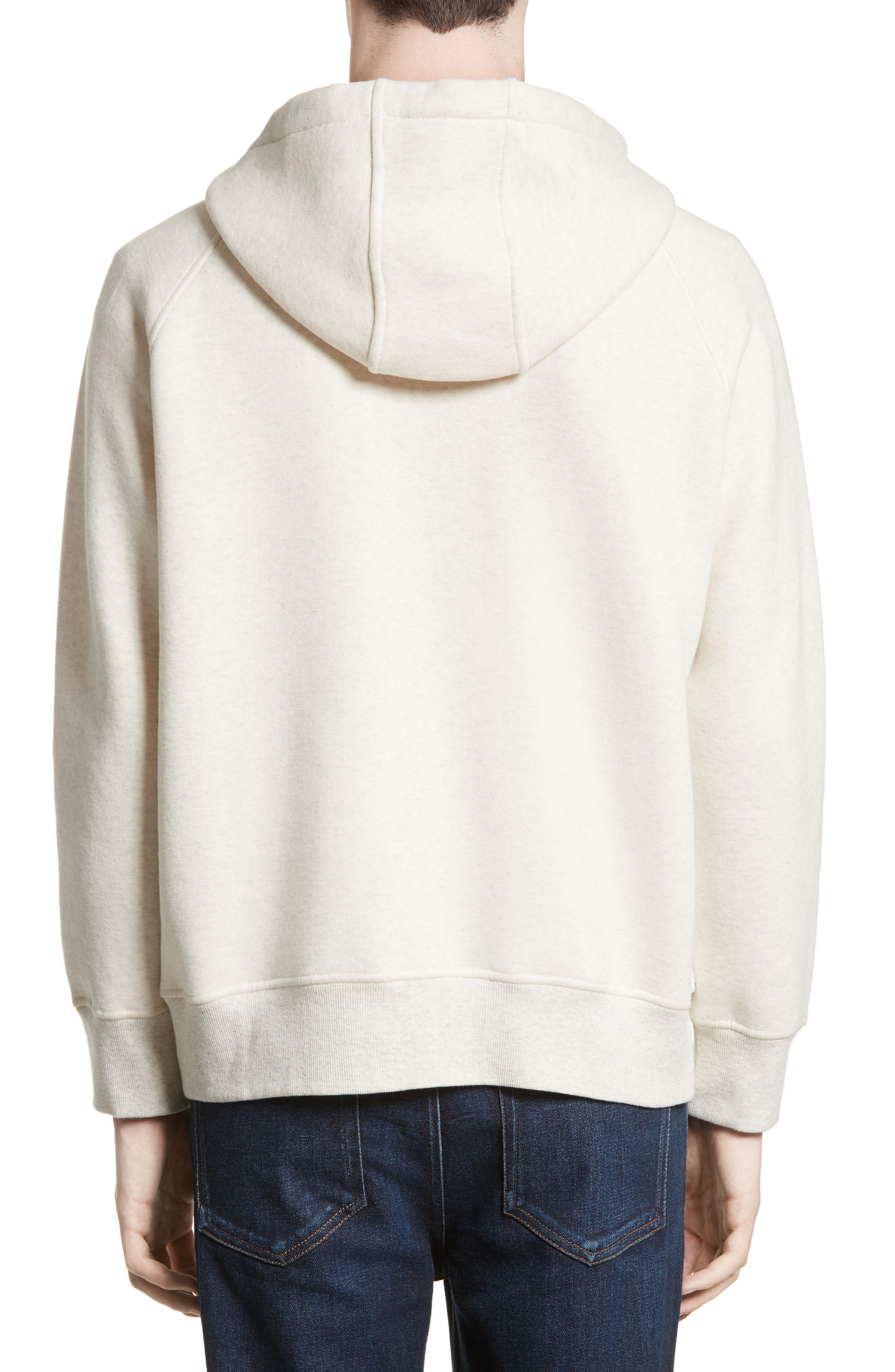Maglia Front Zip Hooded Sweatshirt,                             Alternate thumbnail 2, color,                             Off White