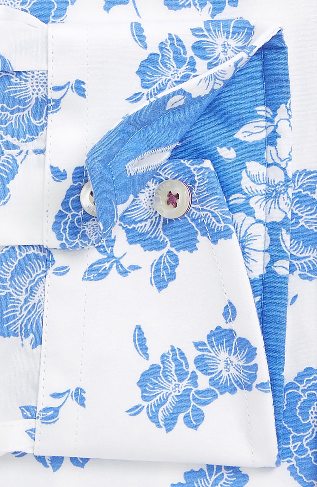 Alternate Image 4  - Ted Baker London Trim Fit Floral Dress Shirt