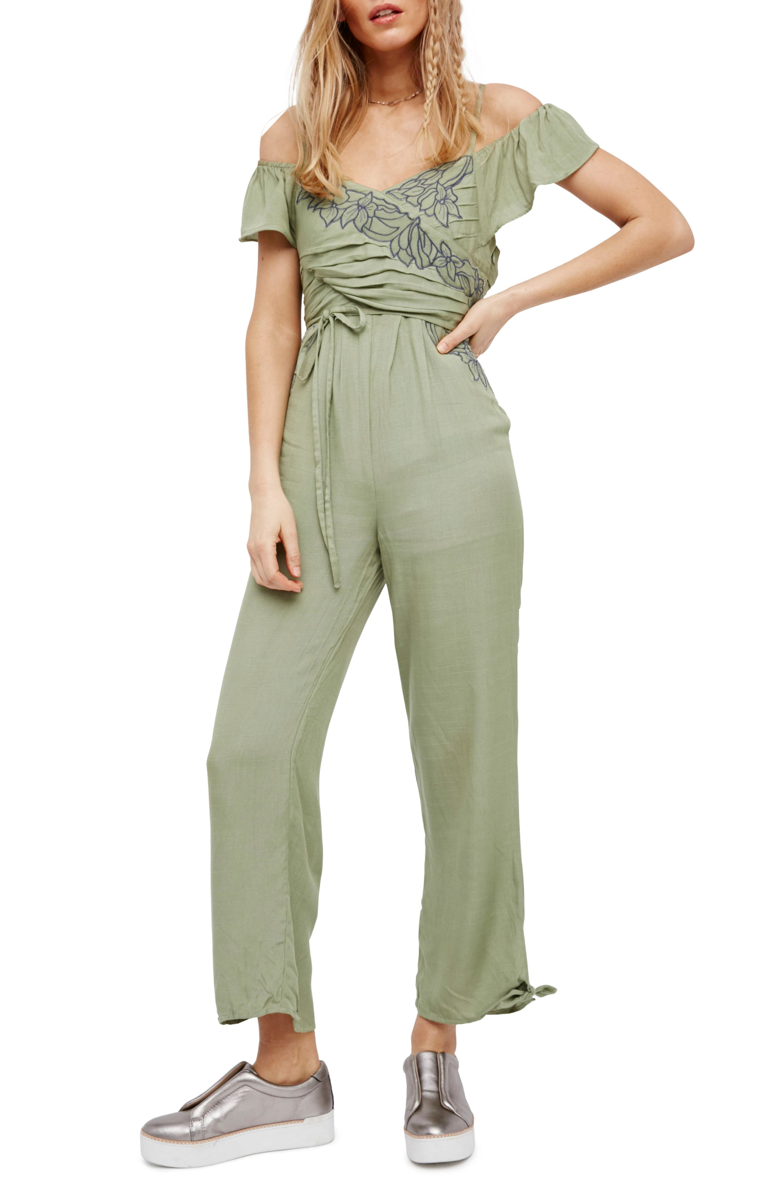 Free People In the Moment Off the Shoulder Jumpsuit