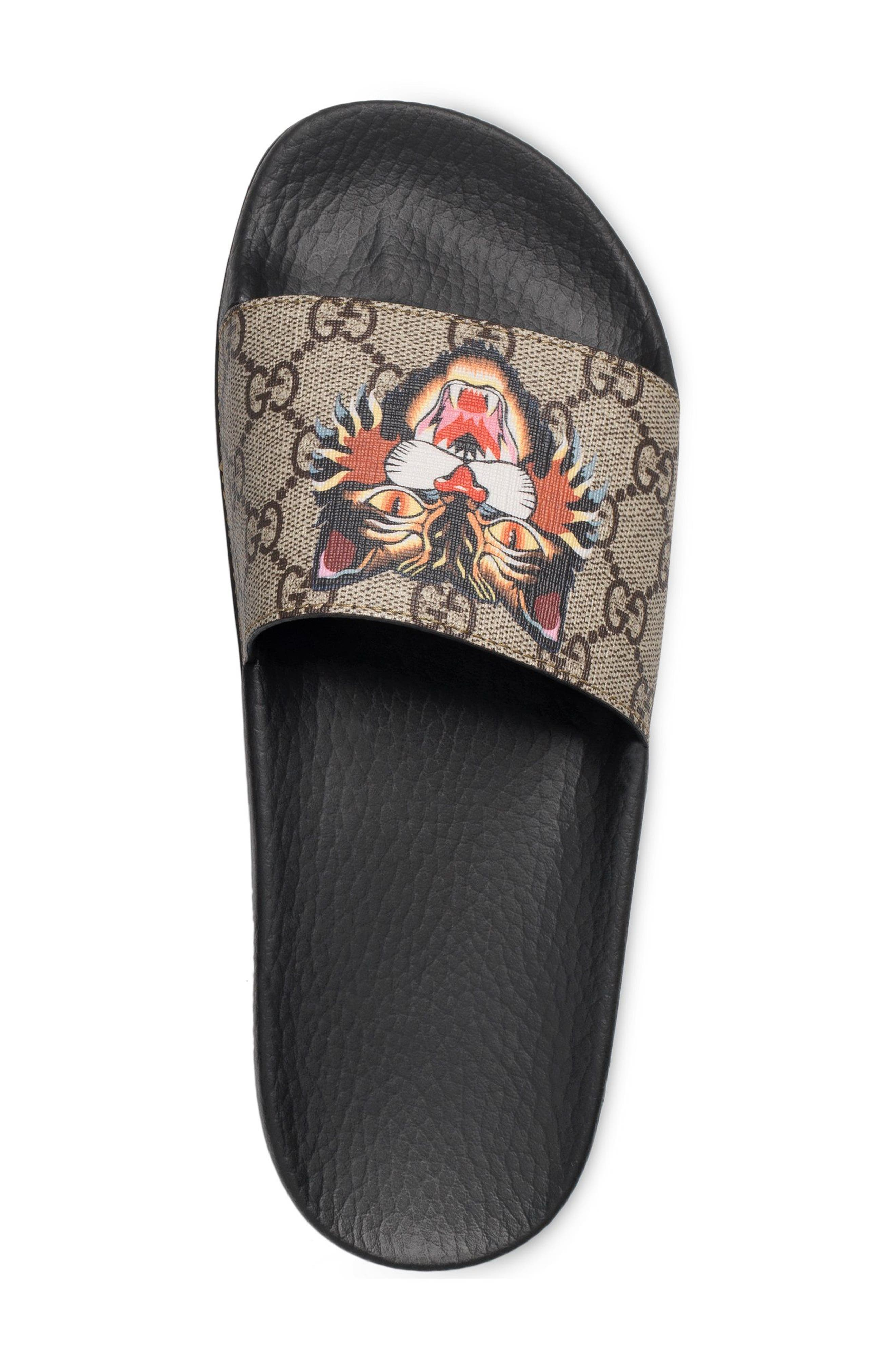 Alternate Image 2  - Gucci Pursuit Tiger Print Slide Sandal (Women)