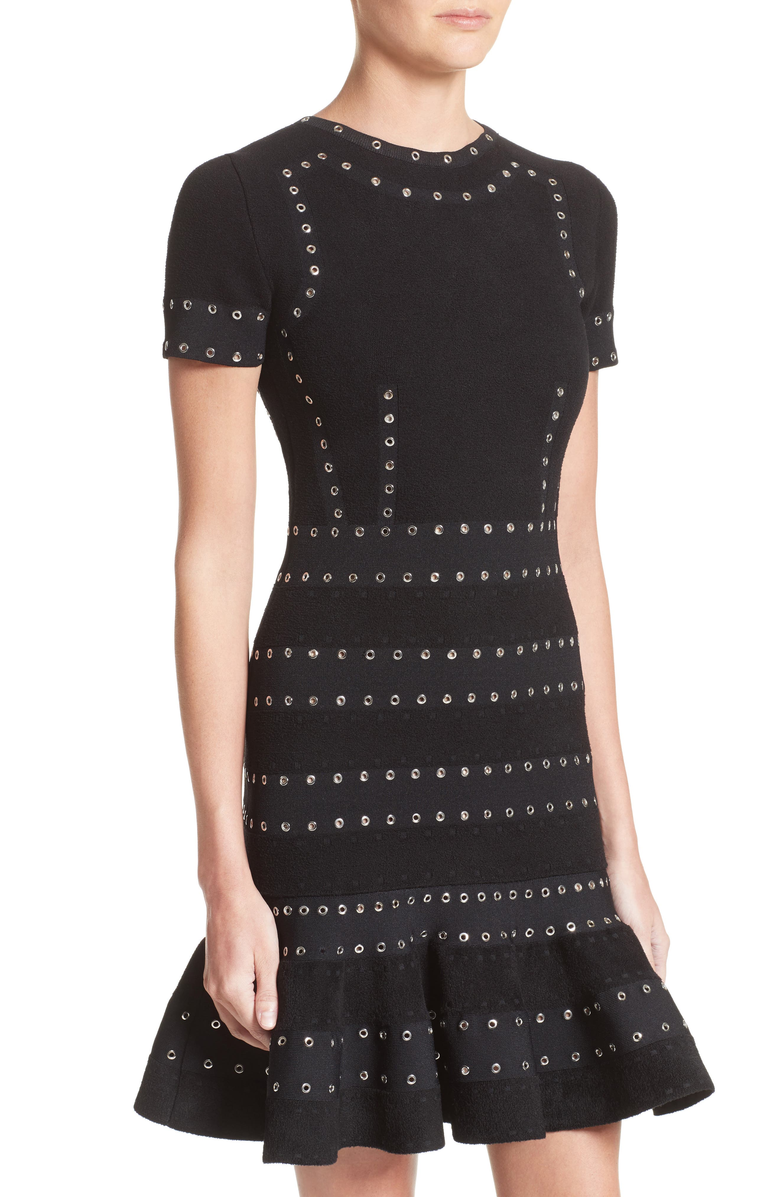 Alternate Image 4  - Alexander McQueen Eyelet Detail Knit Dress