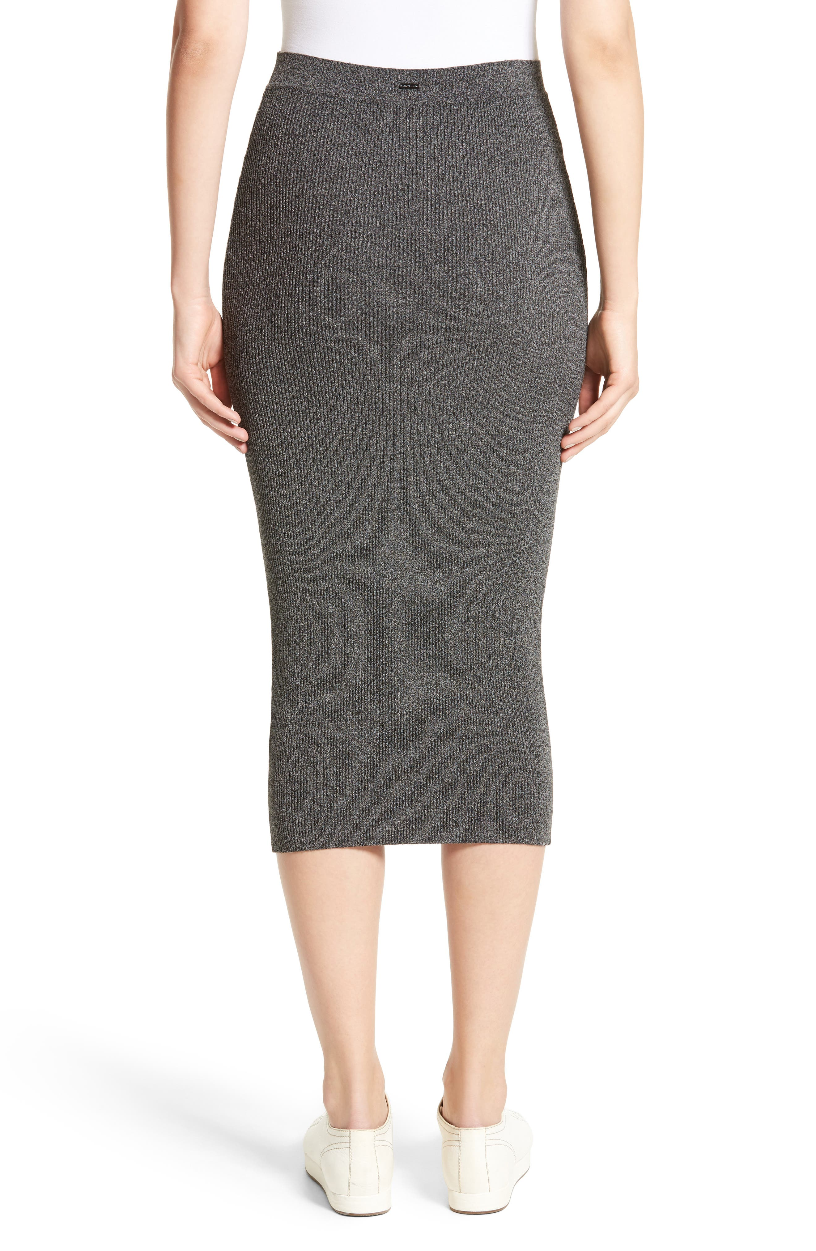 Alternate Image 2  - Armani Jeans Rib Knit Midi Skirt