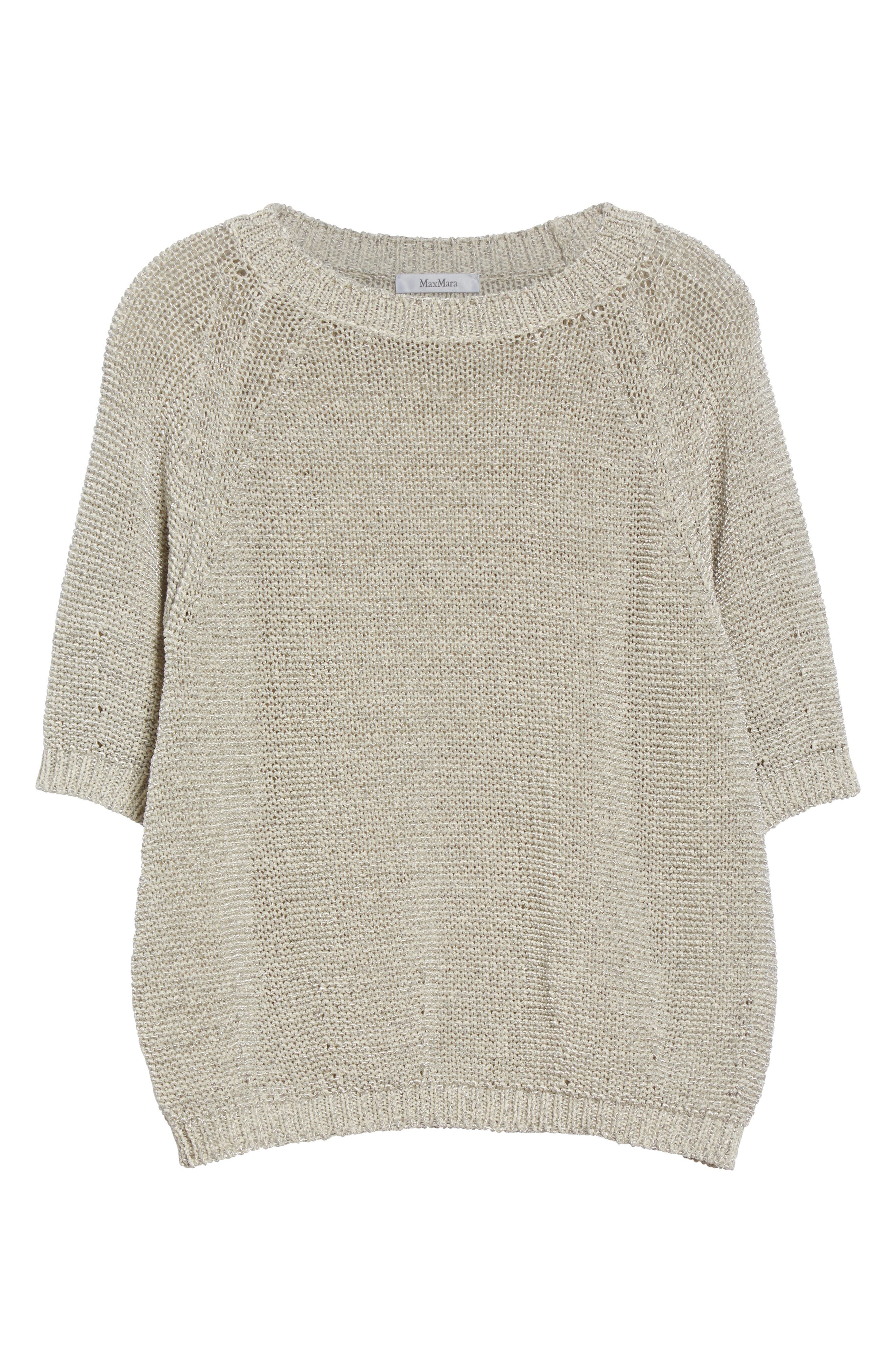 Cotton Blend Sweater,                             Alternate thumbnail 4, color,                             White