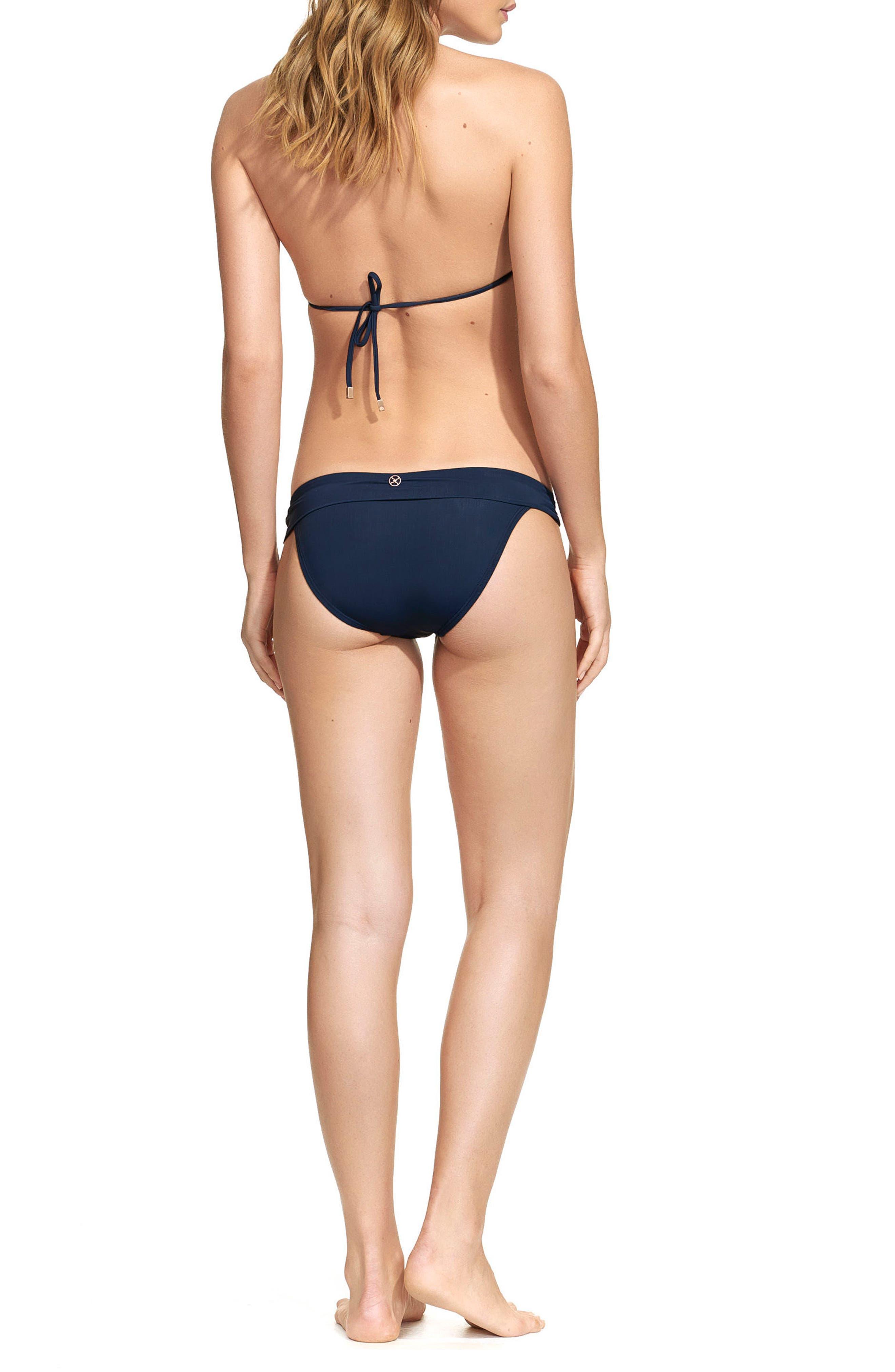Midnight Bia Bikini Top,                             Alternate thumbnail 4, color,                             Navy