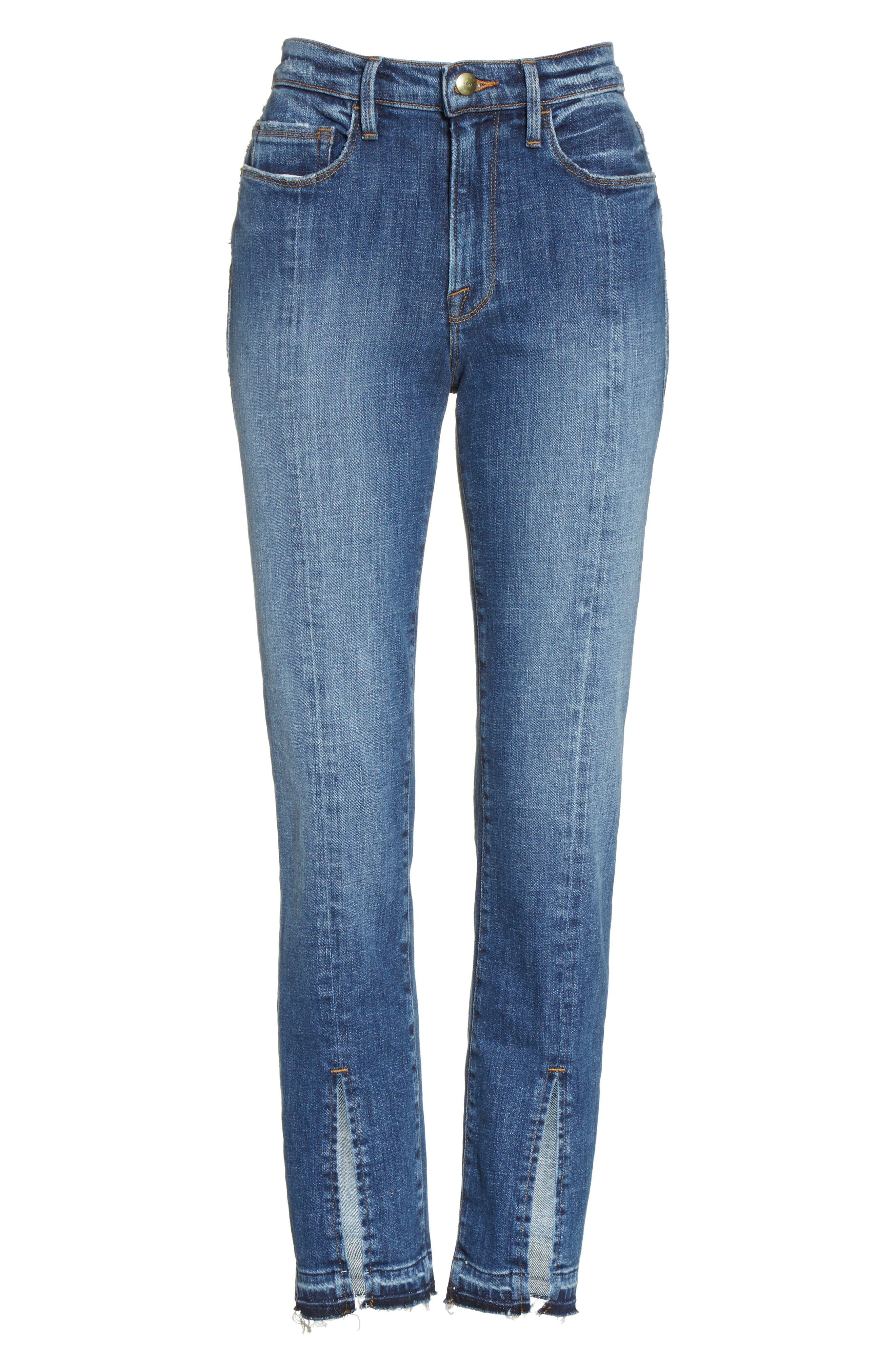 Alternate Image 7  - FRAME Le Nouveau Split Hem Jeans (Sheffield) (Nordstrom Exclusive)