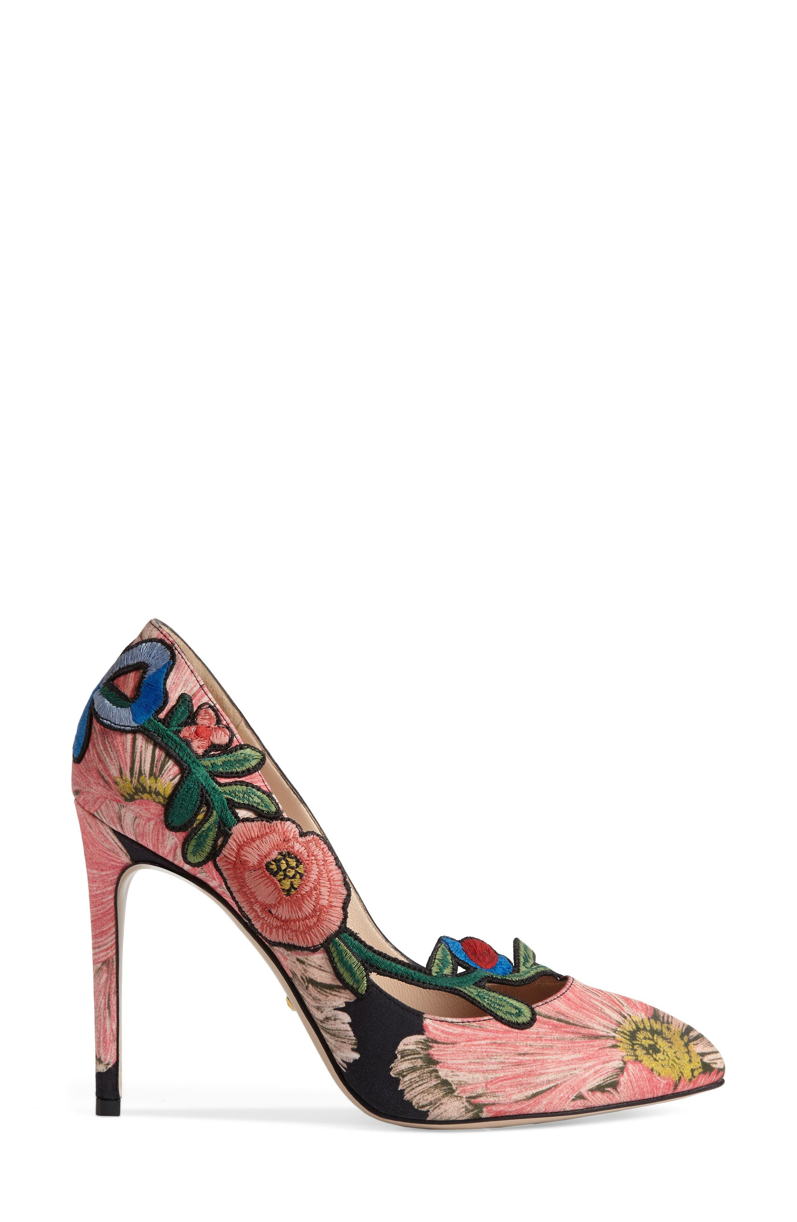 Alternate Image 3  - Gucci Ophelia Floral Pump (Women)