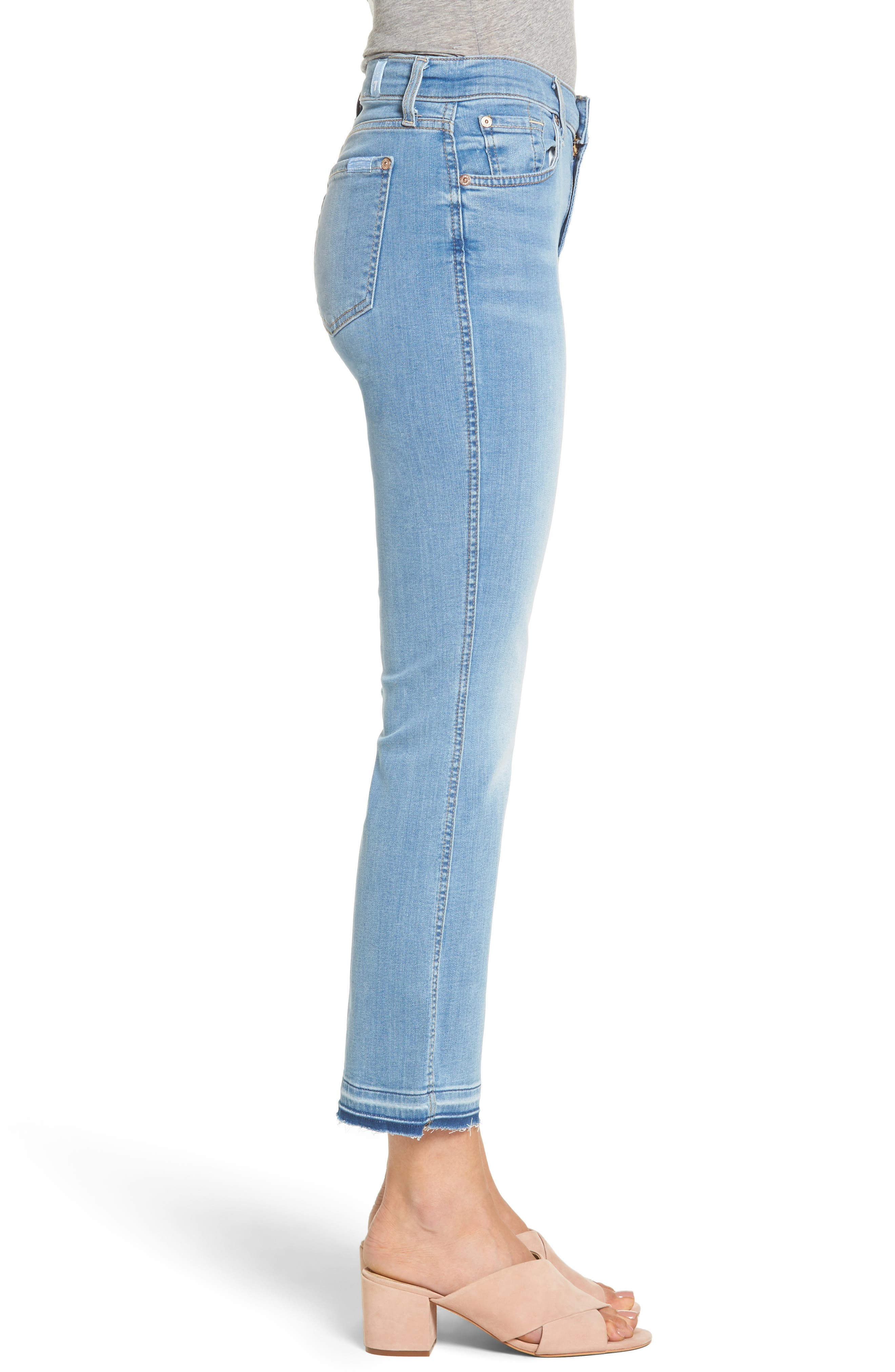 Alternate Image 3  - 7 For All Mankind® b(air) Released Hem Crop Bootcut Jeans (Bair Sunfaded 2)