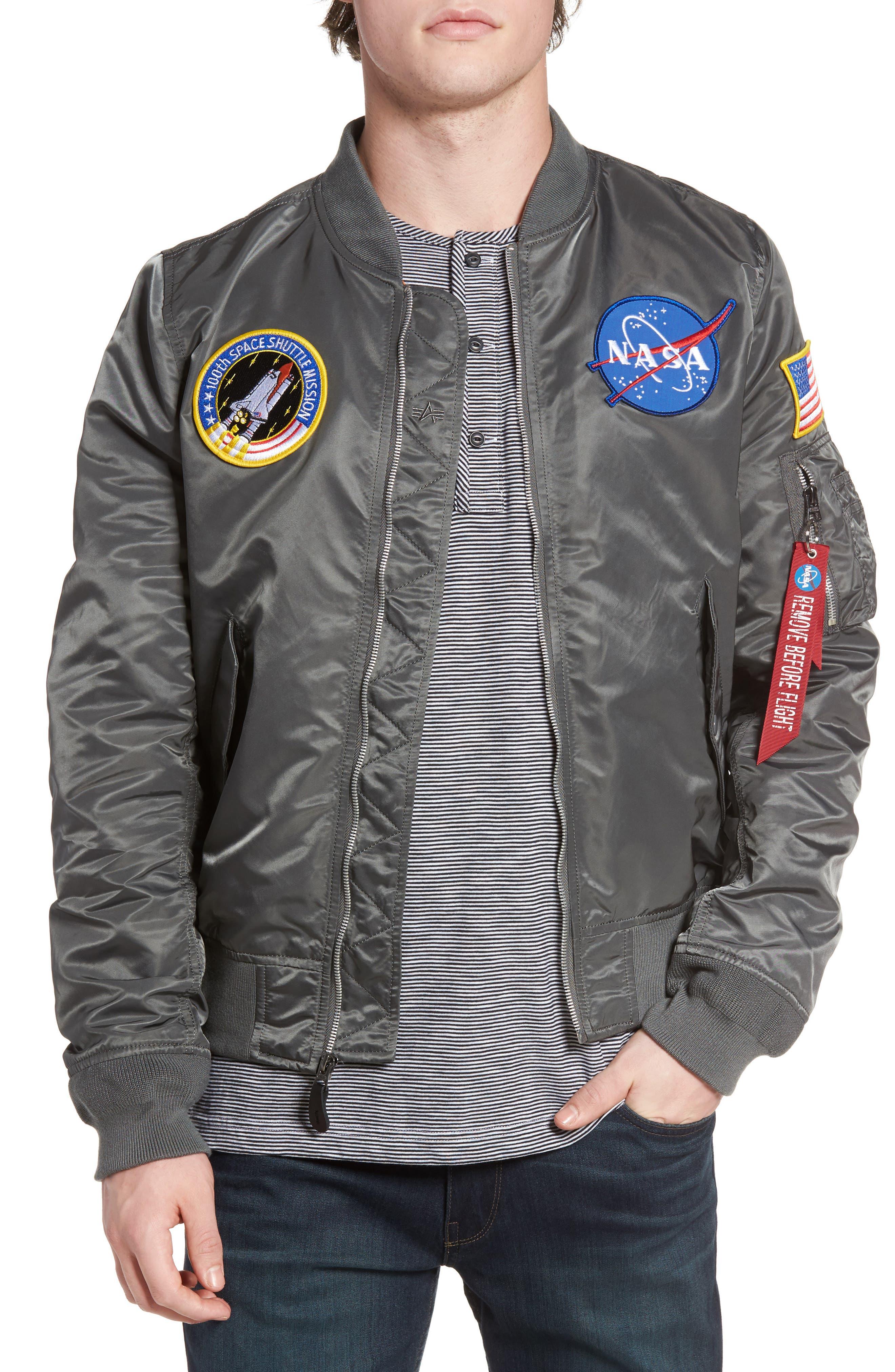 Alternate Image 1 Selected - Alpha Industries Lightweight NASA L-2B Bomber Jacket