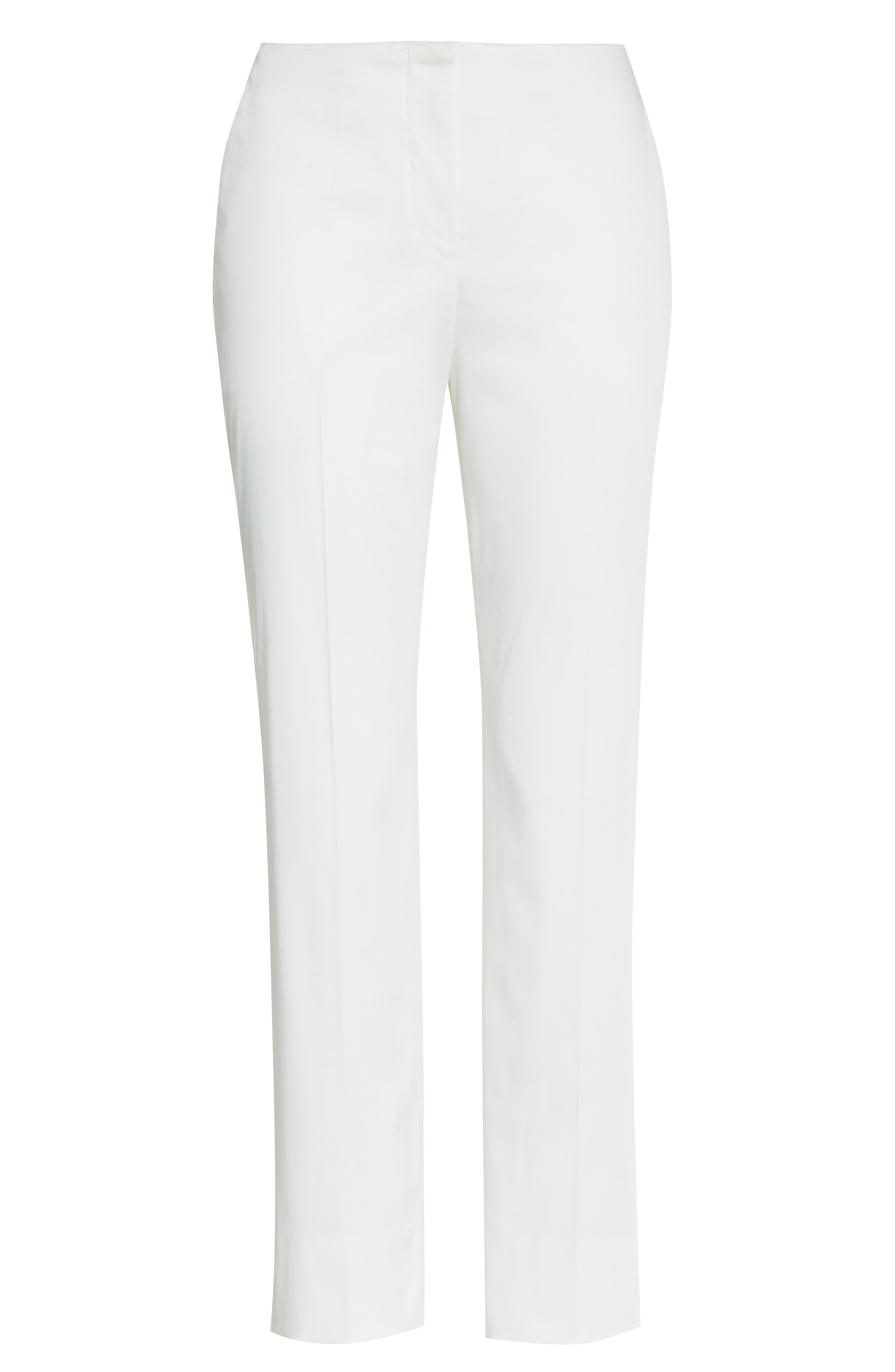 Alternate Image 4  - Armani Collezioni Stretch Cotton Ankle Pants