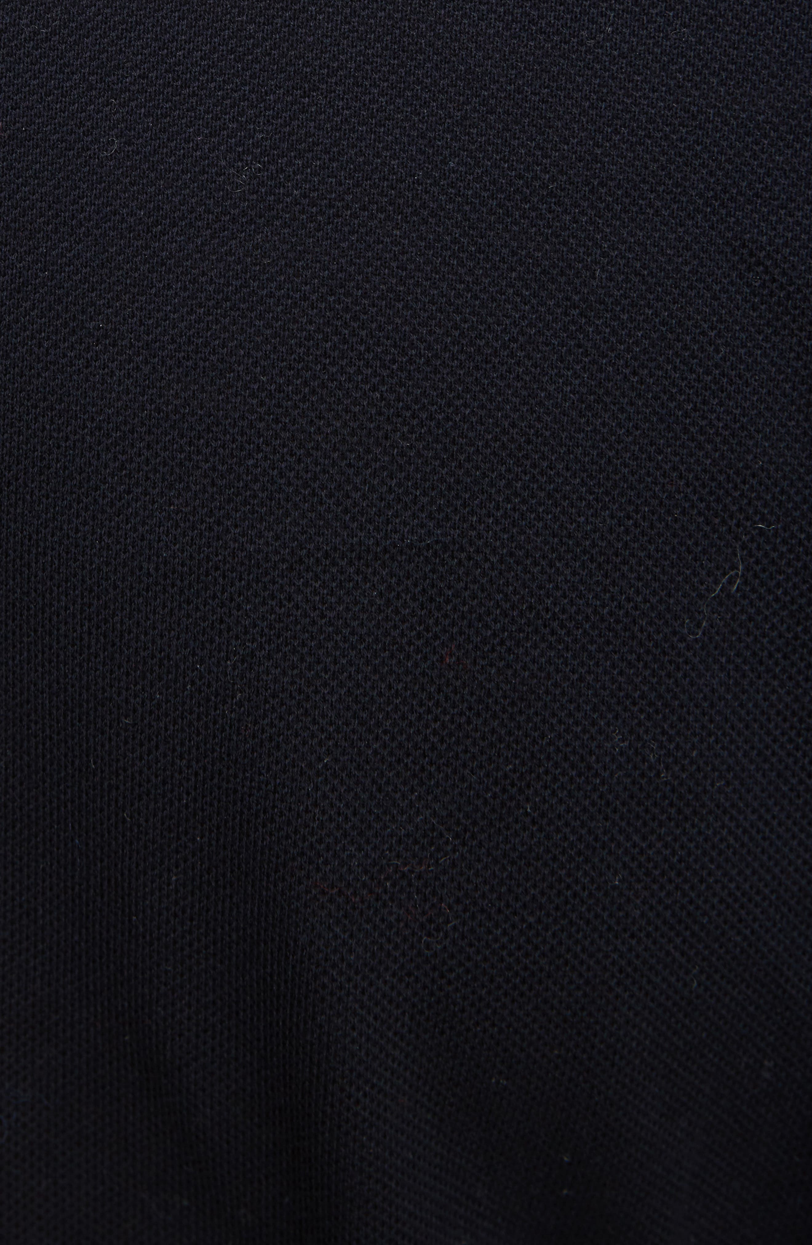 Wool Blend & Cotton Polo,                             Alternate thumbnail 5, color,                             Navy
