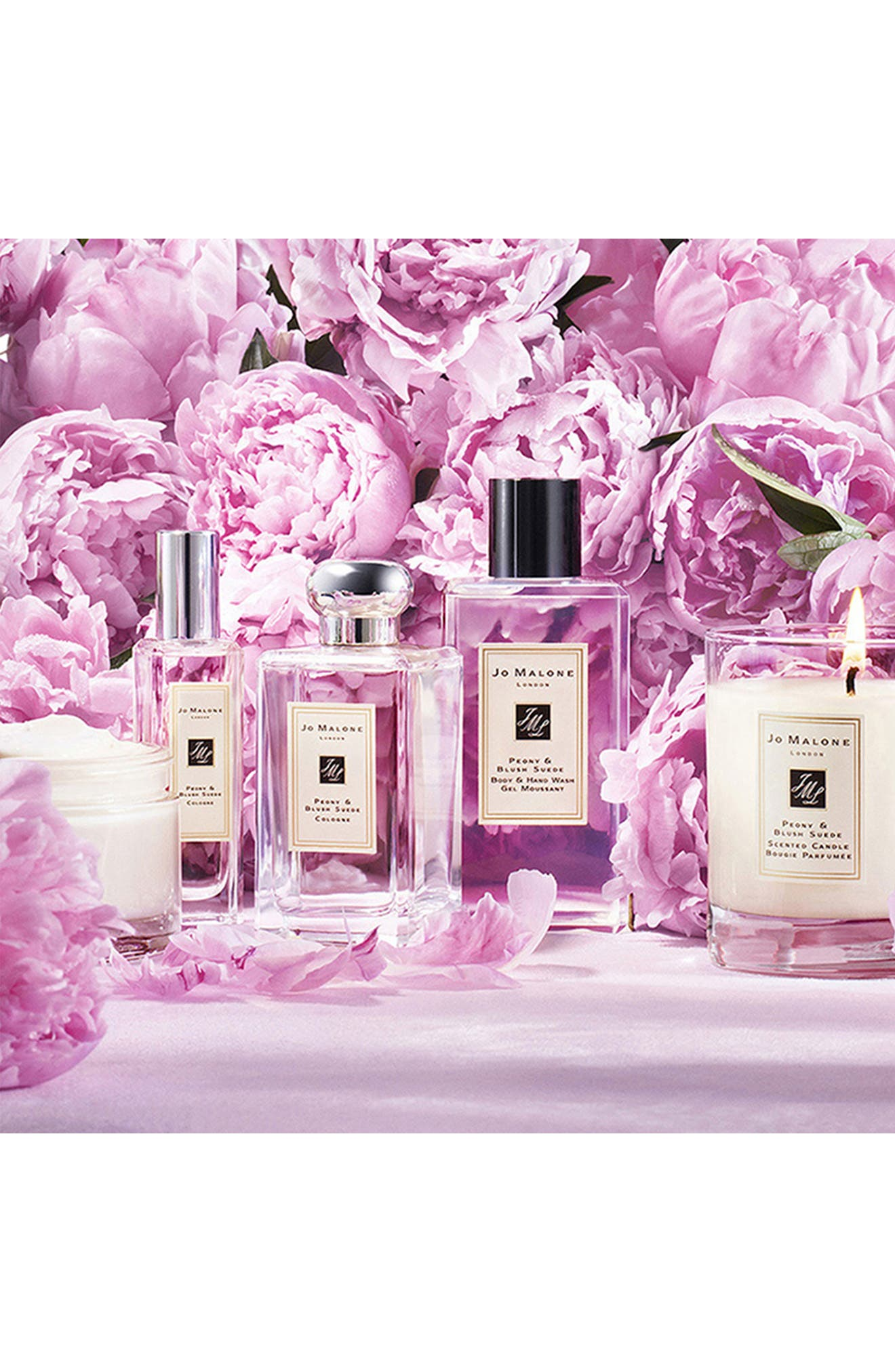 Peony & Blush Suede Body & Hand Wash,                             Alternate thumbnail 3, color,                             No Color