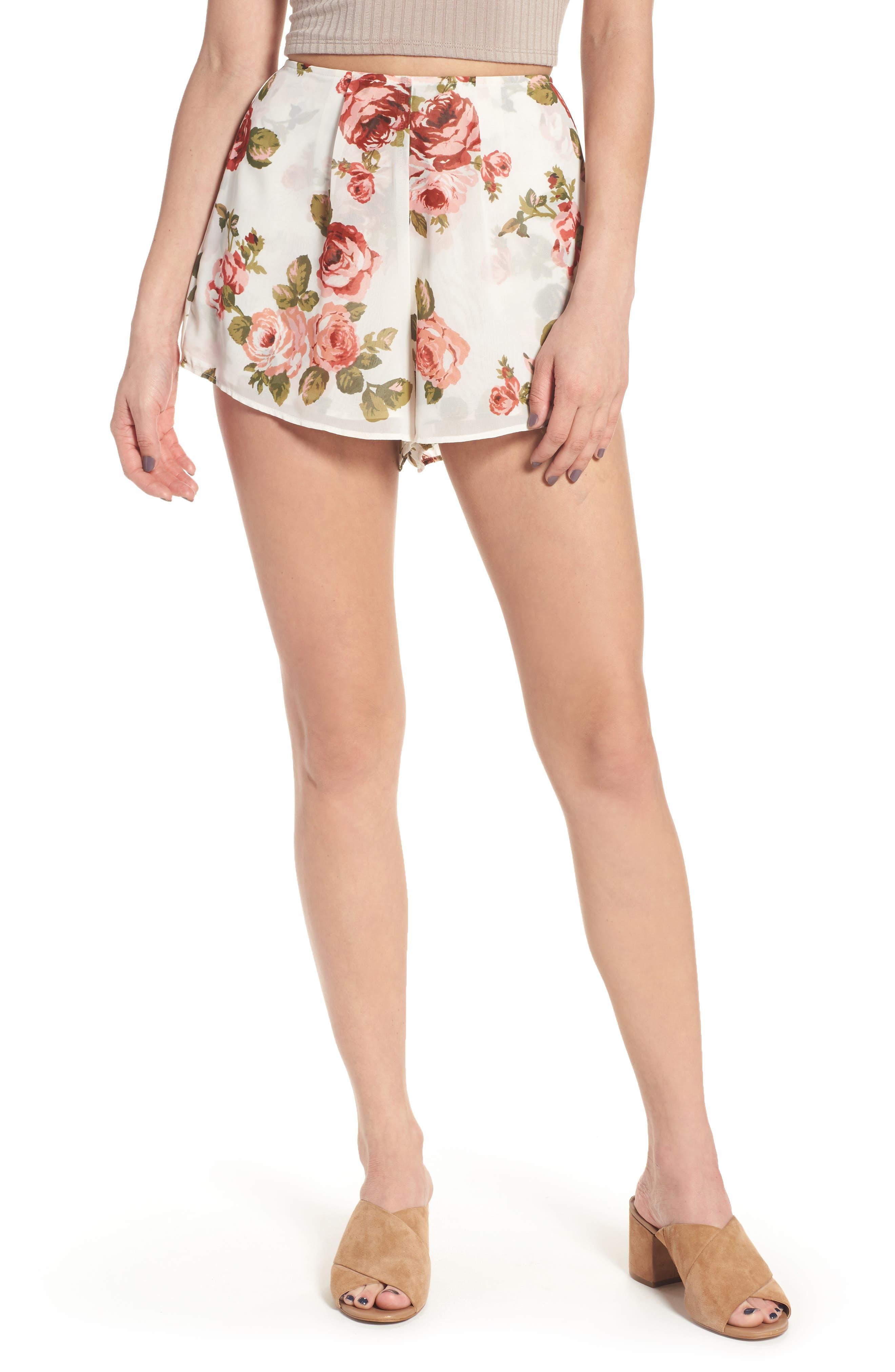 Sawyer Shorts,                         Main,                         color, Rosie Posie