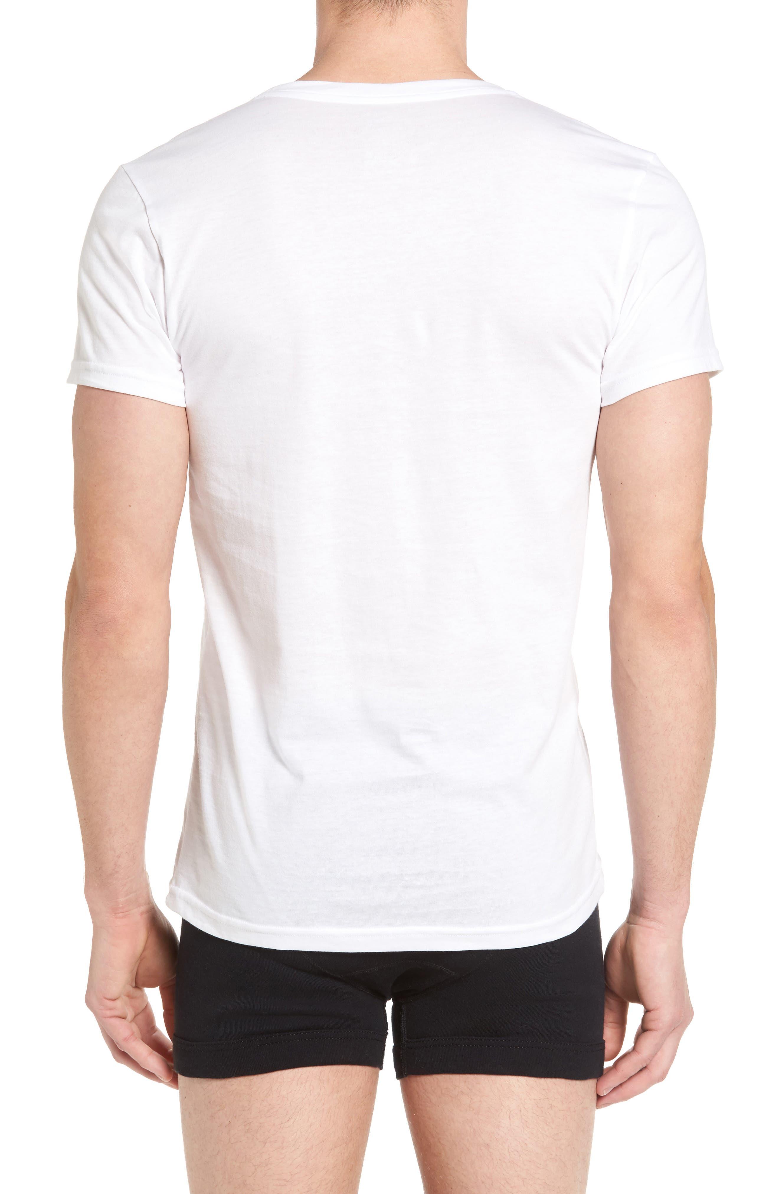2-Pack V-Neck T-Shirt,                             Alternate thumbnail 2, color,                             White