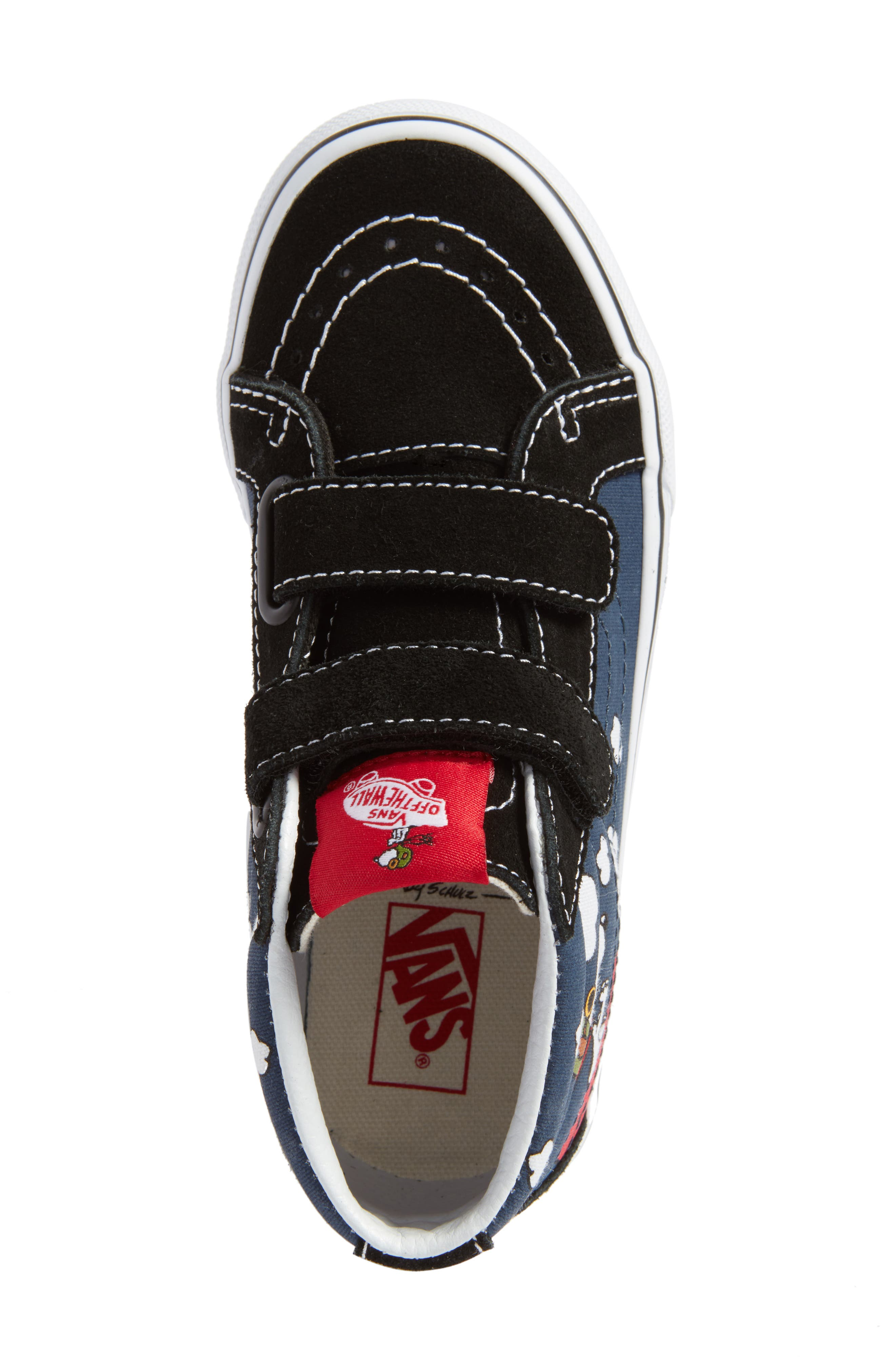 x Peanuts SK8-Mid Reissue V Sneaker,                             Alternate thumbnail 5, color,                             Flying Ace/ Blue Canvas