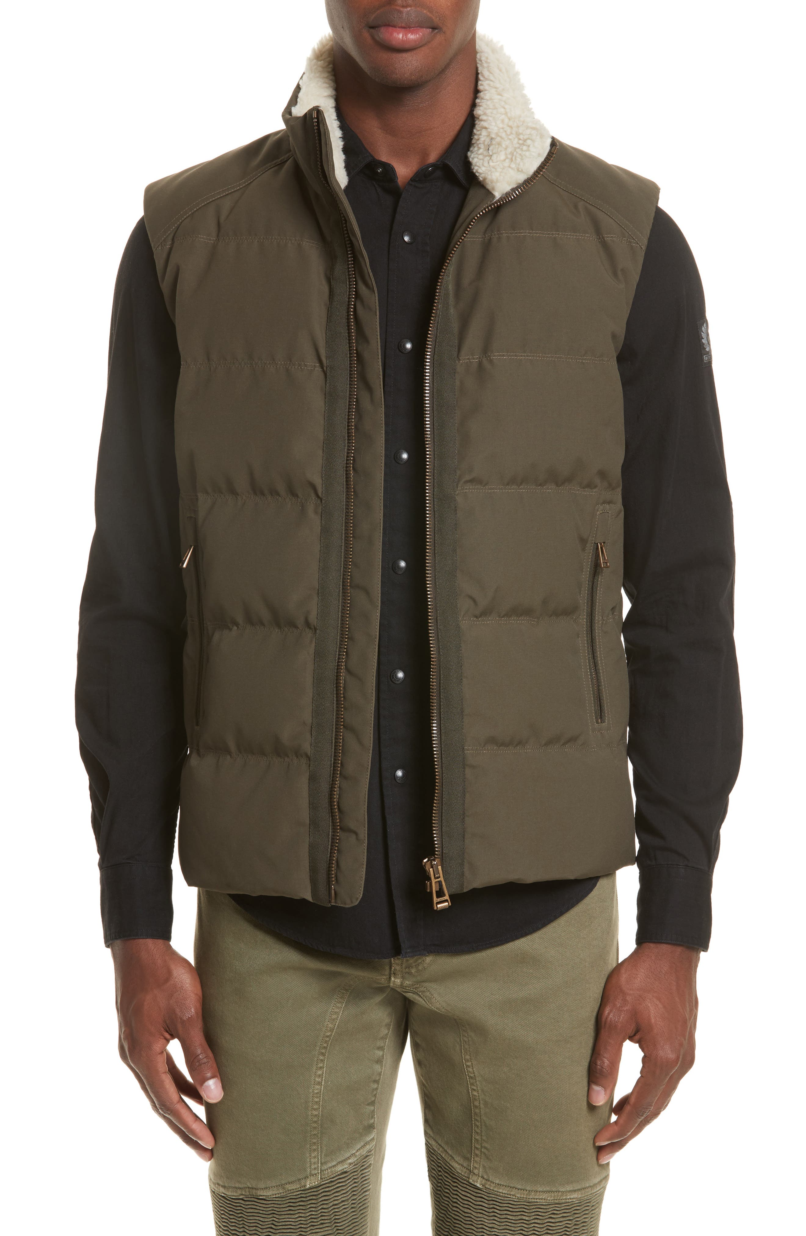 Fyfield Quilted Vest,                         Main,                         color, Military Green