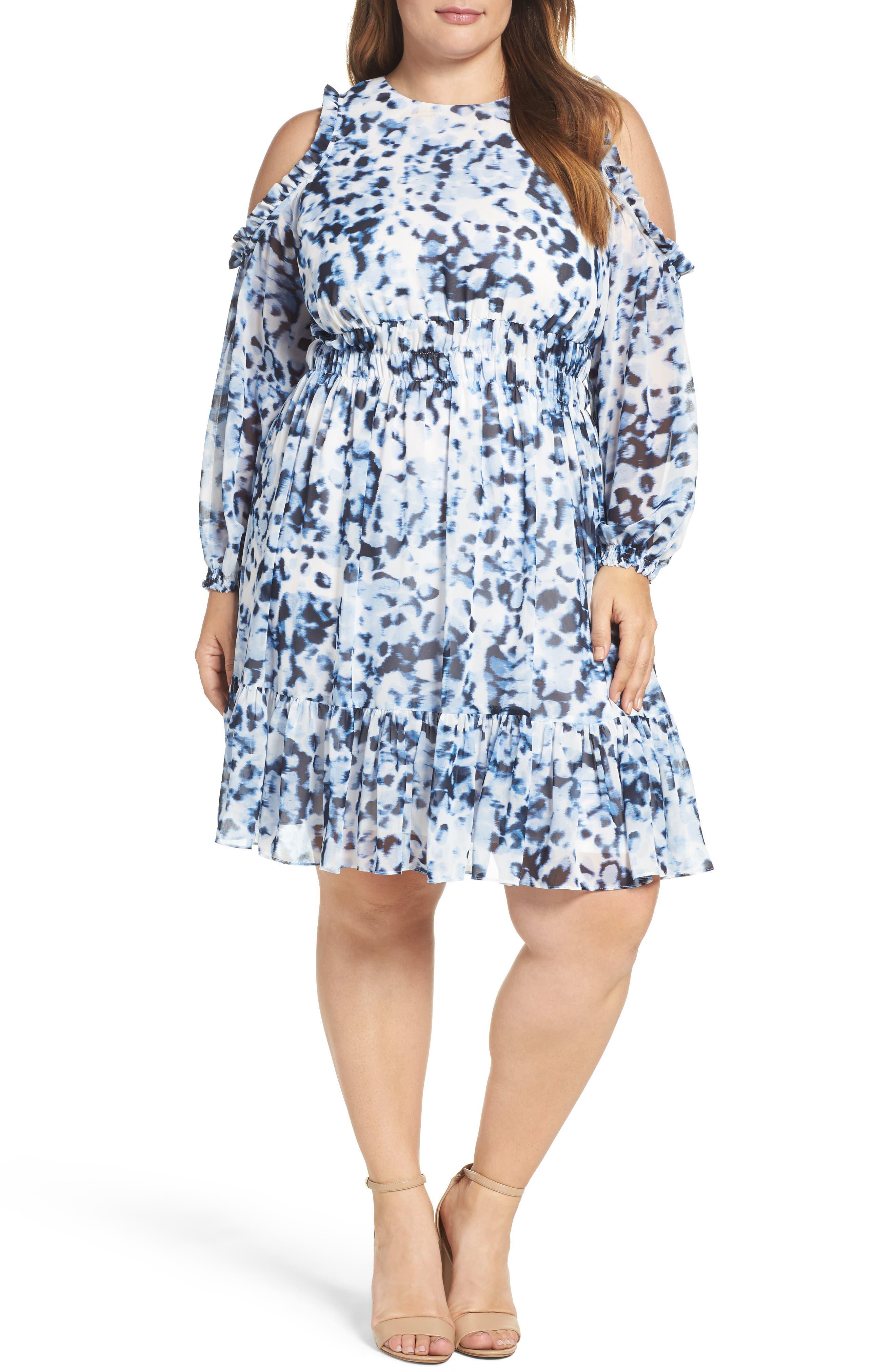 Eliza J Cold Shoulder Dress (Plus Size)