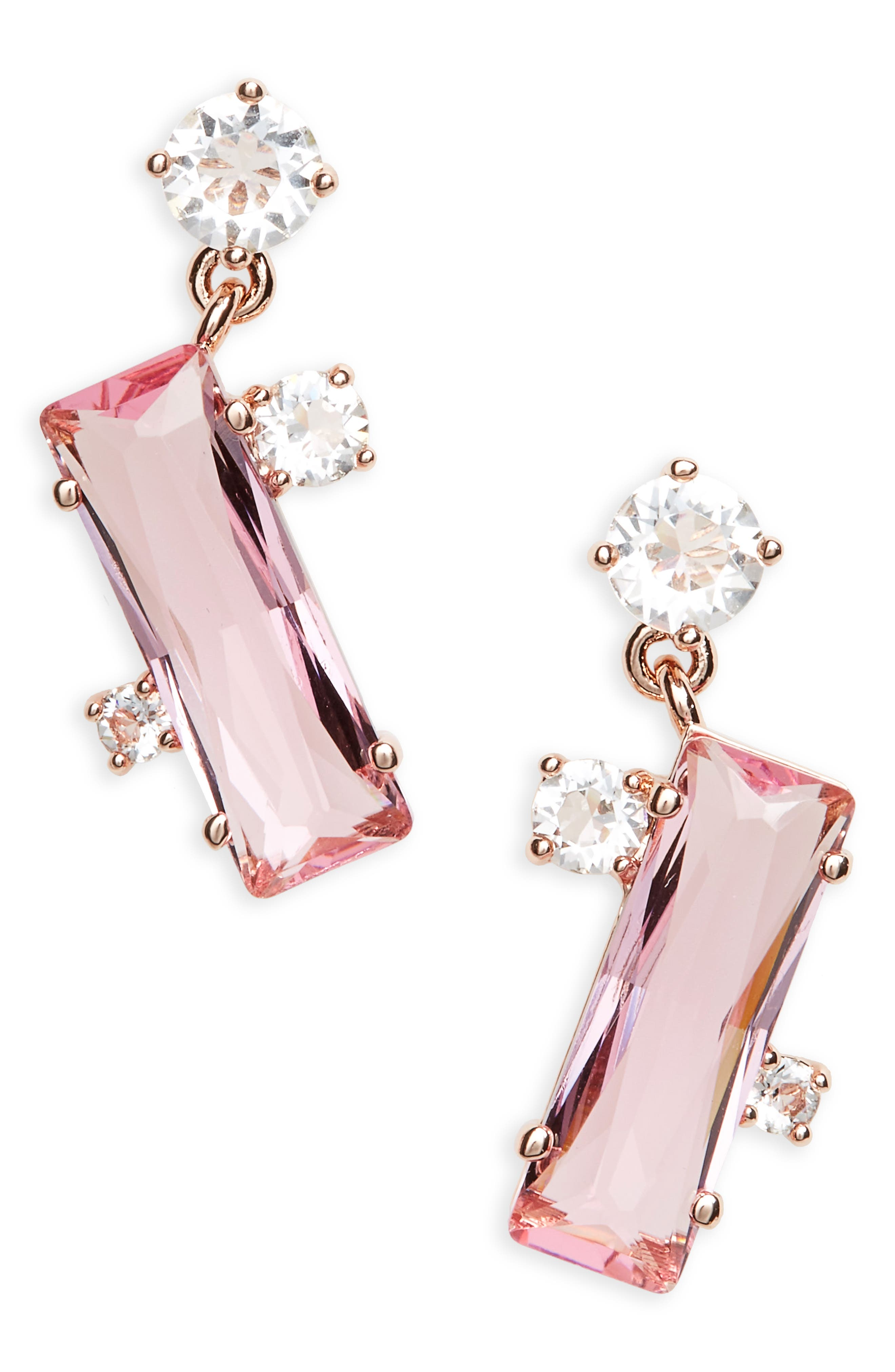 TED BAKER LONDON Broklyn Baguette Drop Earrings