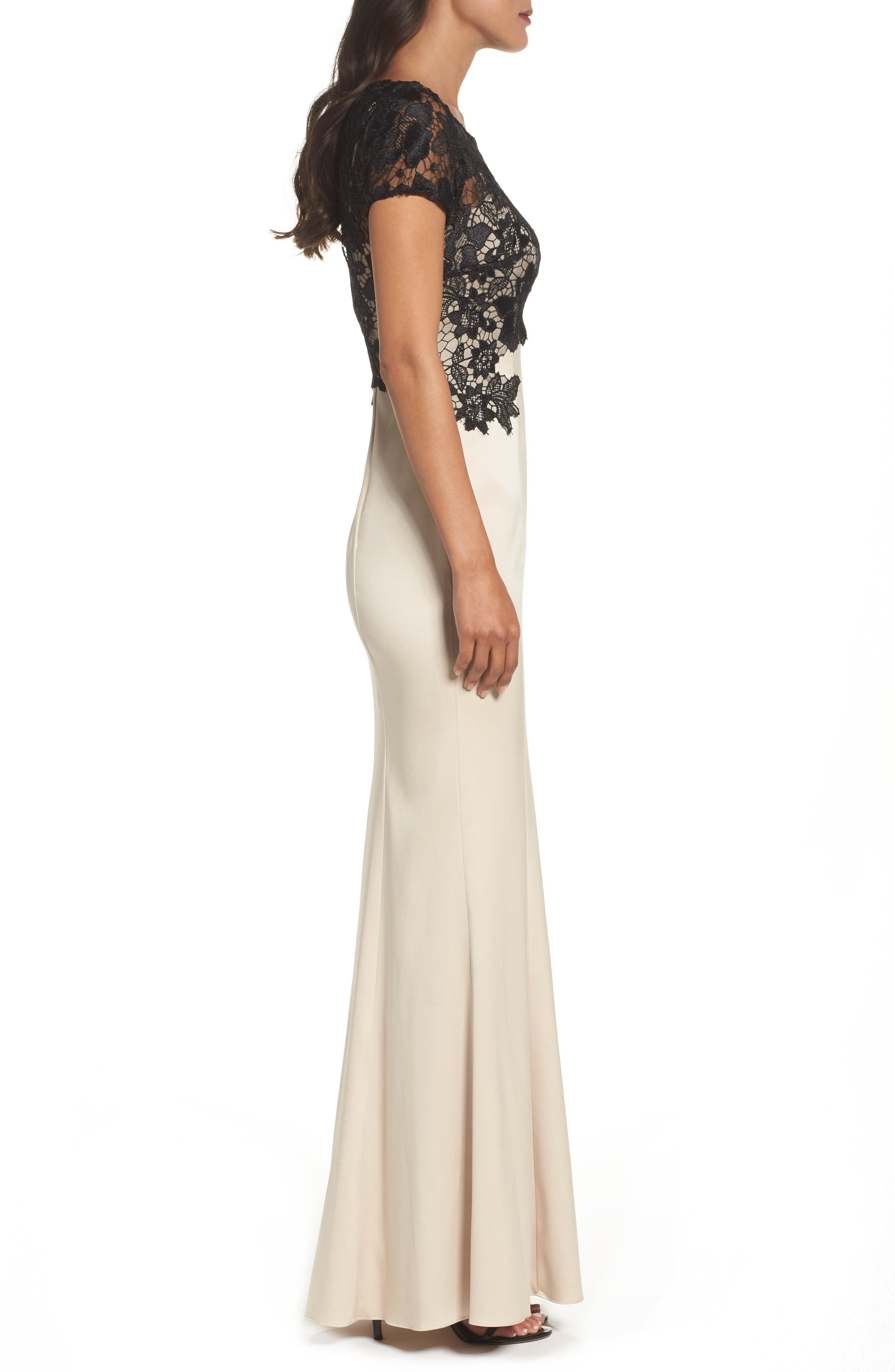 Alternate Image 3  - Adrianna Papell Lace Mermaid Gown