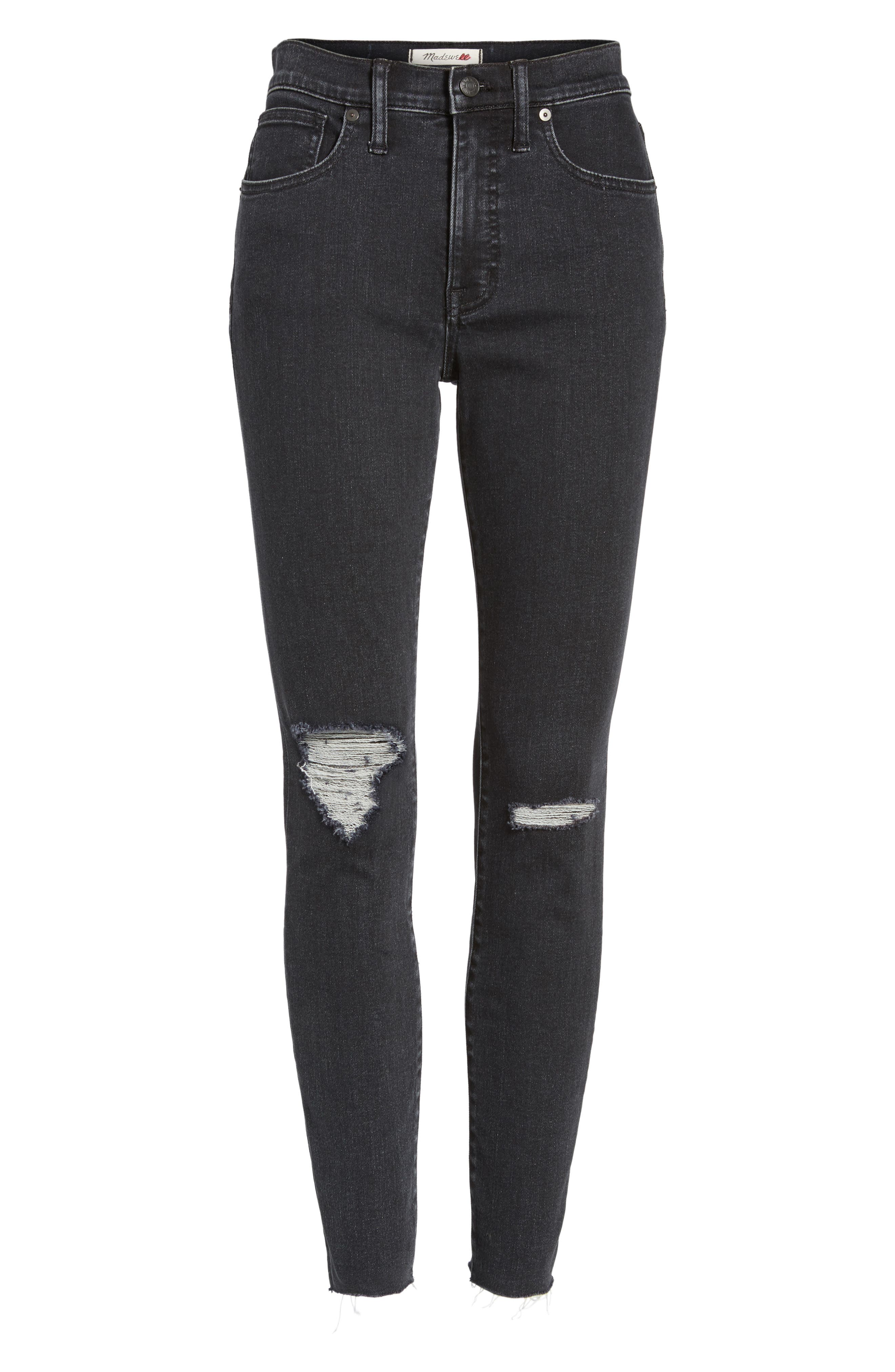 Alternate Image 7  - Madewell 9-Inch High Rise Ripped Skinny Jeans (Ruth)