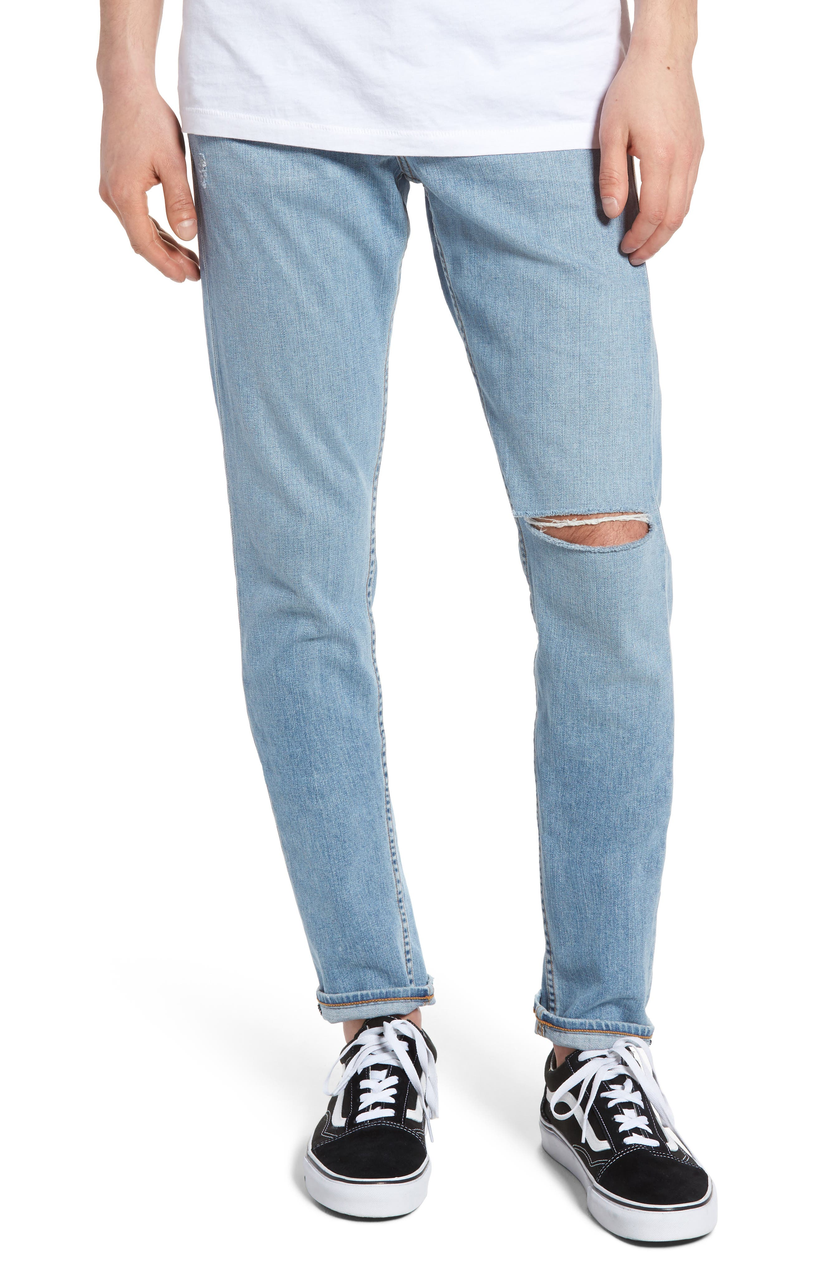 Fit 1 Skinny Fit Jeans,                         Main,                         color, Rhnbk W/ Hls
