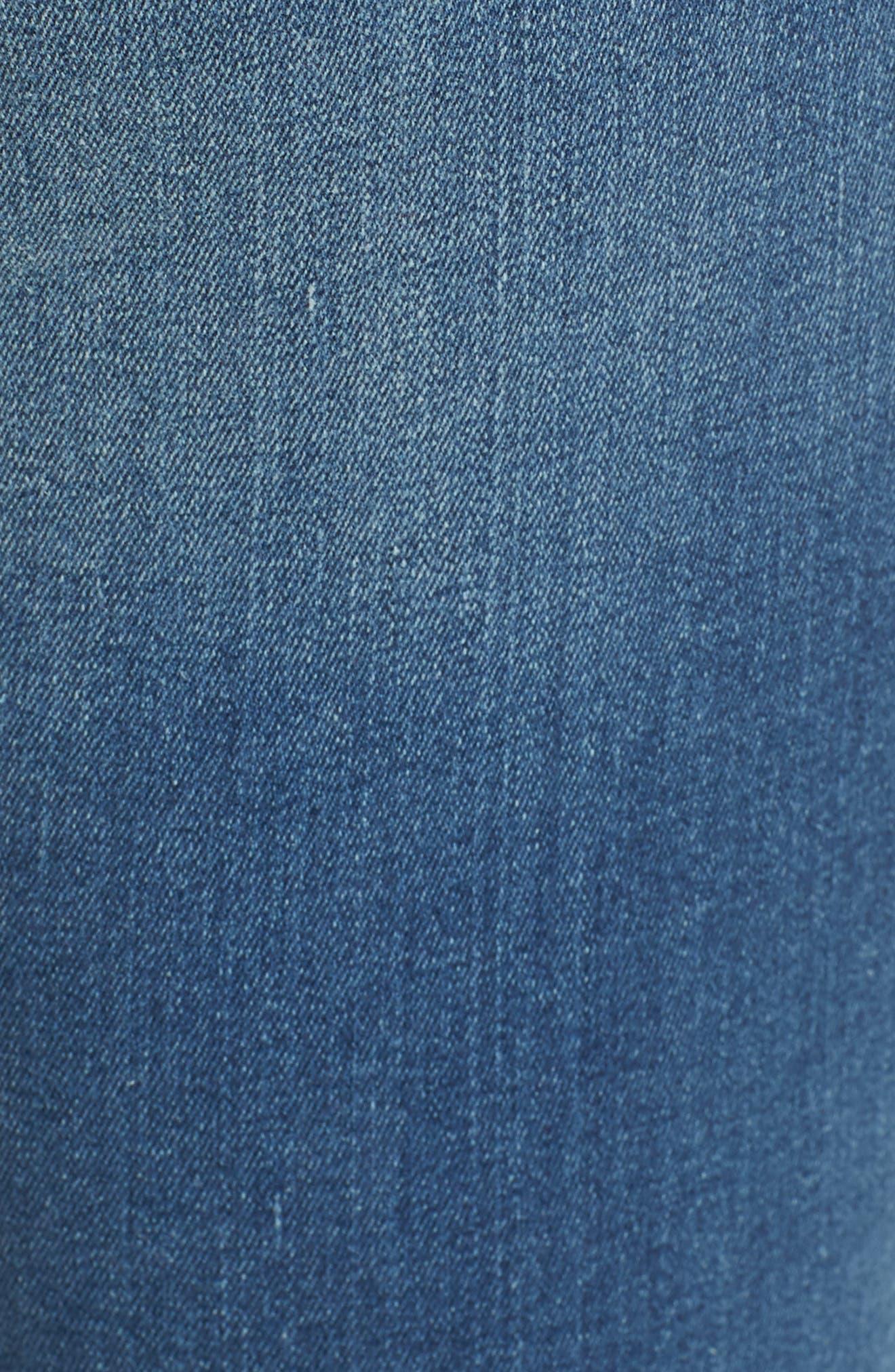 Alternate Image 5  - Mavi Jeans Adriana Stretch Skinny Jeans (Mid Destroyed Tribecca)