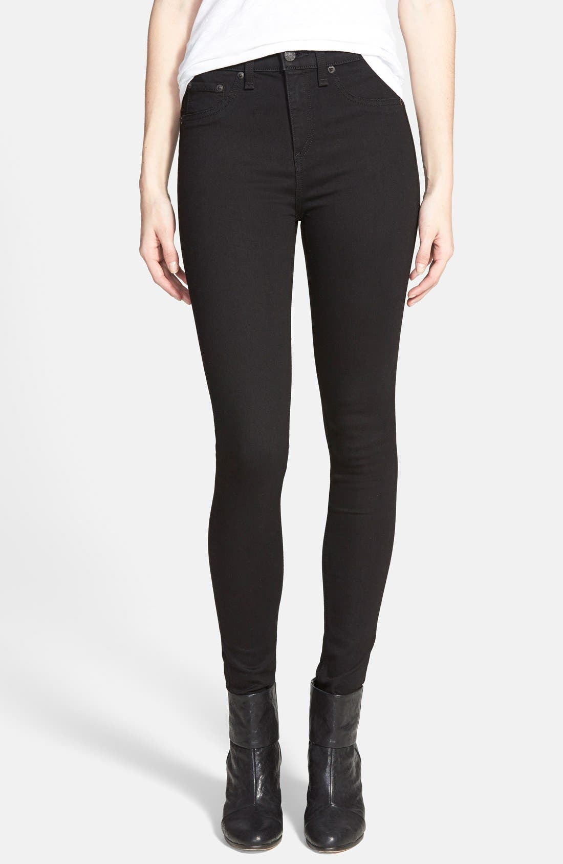 Alternate Image 1 Selected - rag & bone/JEAN High Waist Leggings (Black)