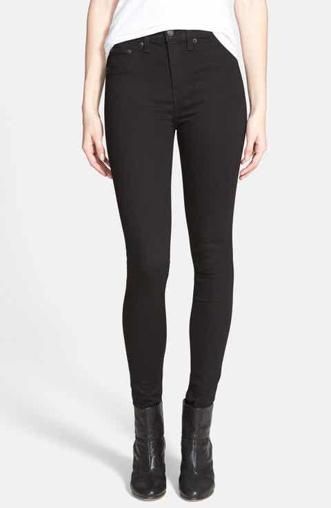 rag & bone/JEAN High Waist Leggings Black