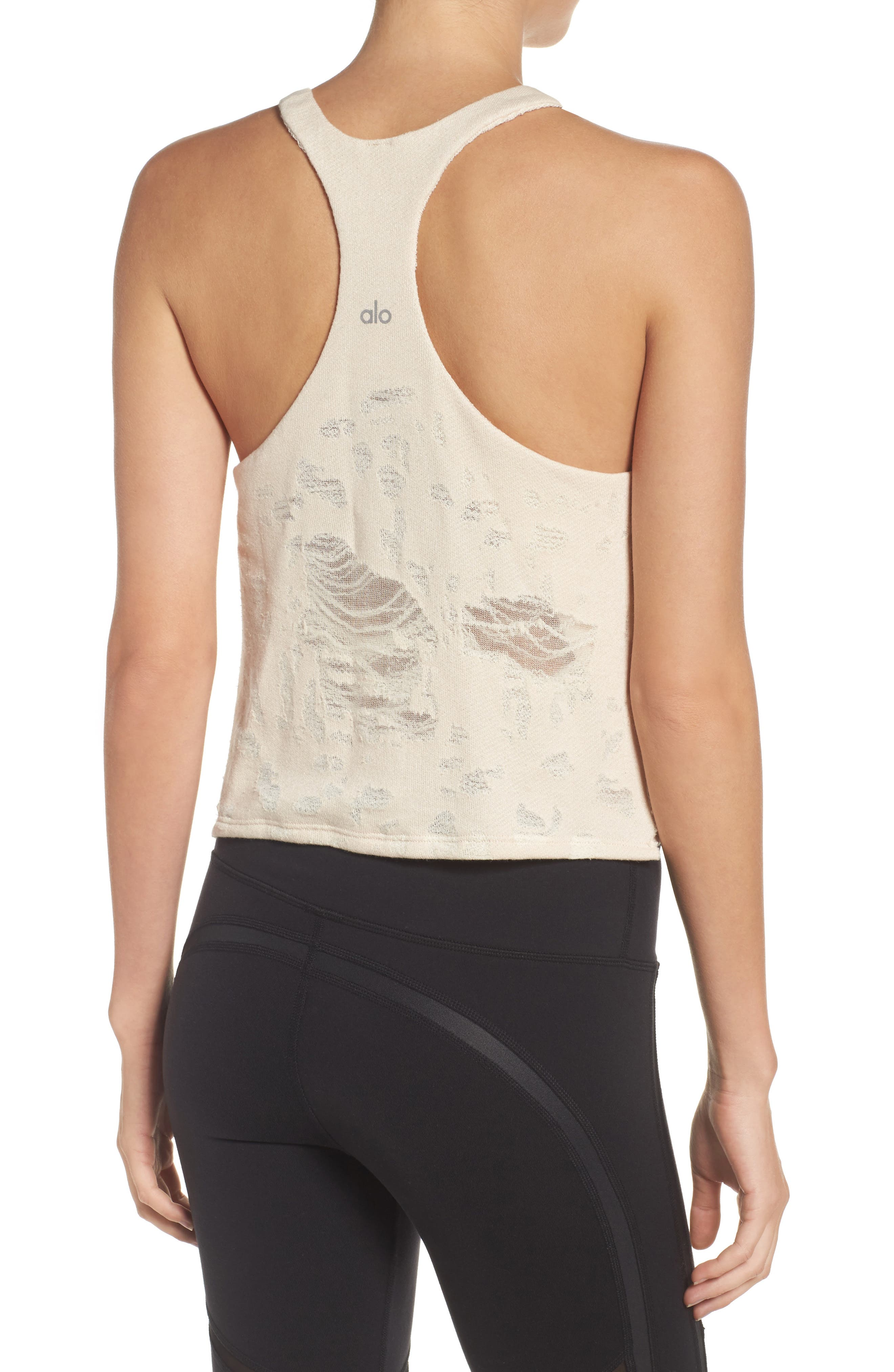Step Crop Tank,                             Alternate thumbnail 2, color,                             Rich Sand Distressed