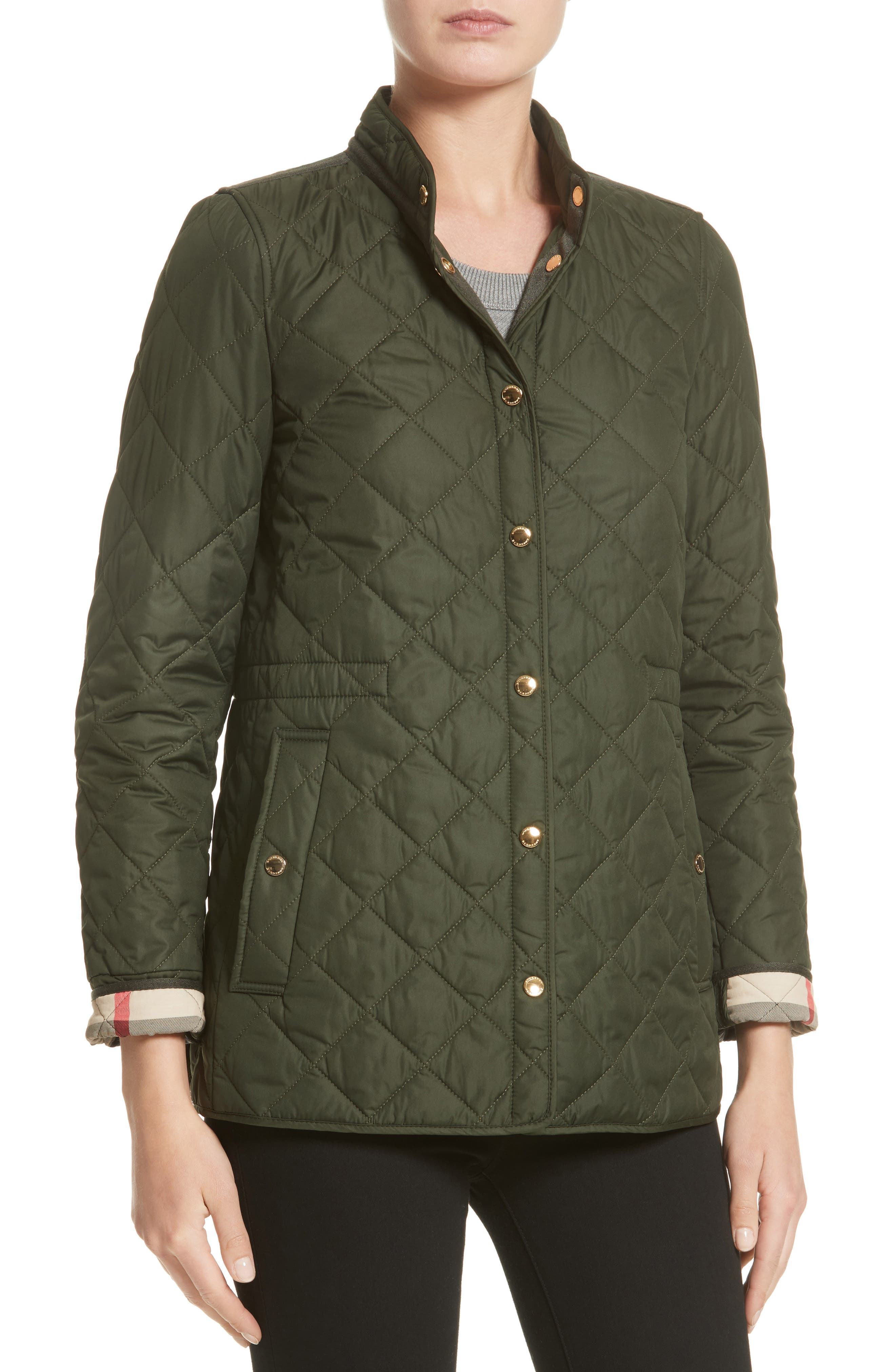 Alternate Image 6  - Burberry Pensham Quilted Jacket (Nordstrom Exclusive)