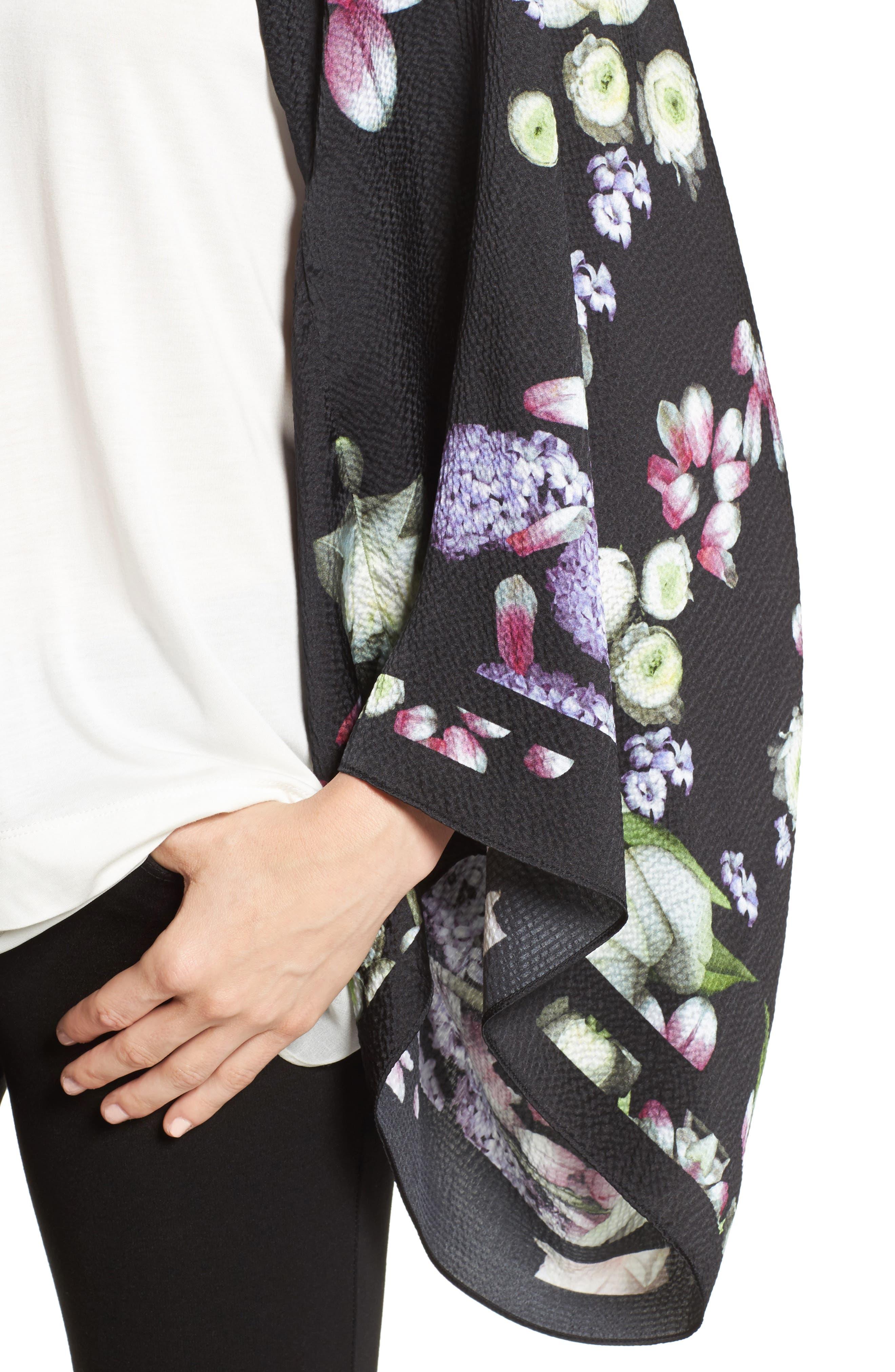 Alternate Image 4  - Ted Baker London Kensington Floral Silk Cape