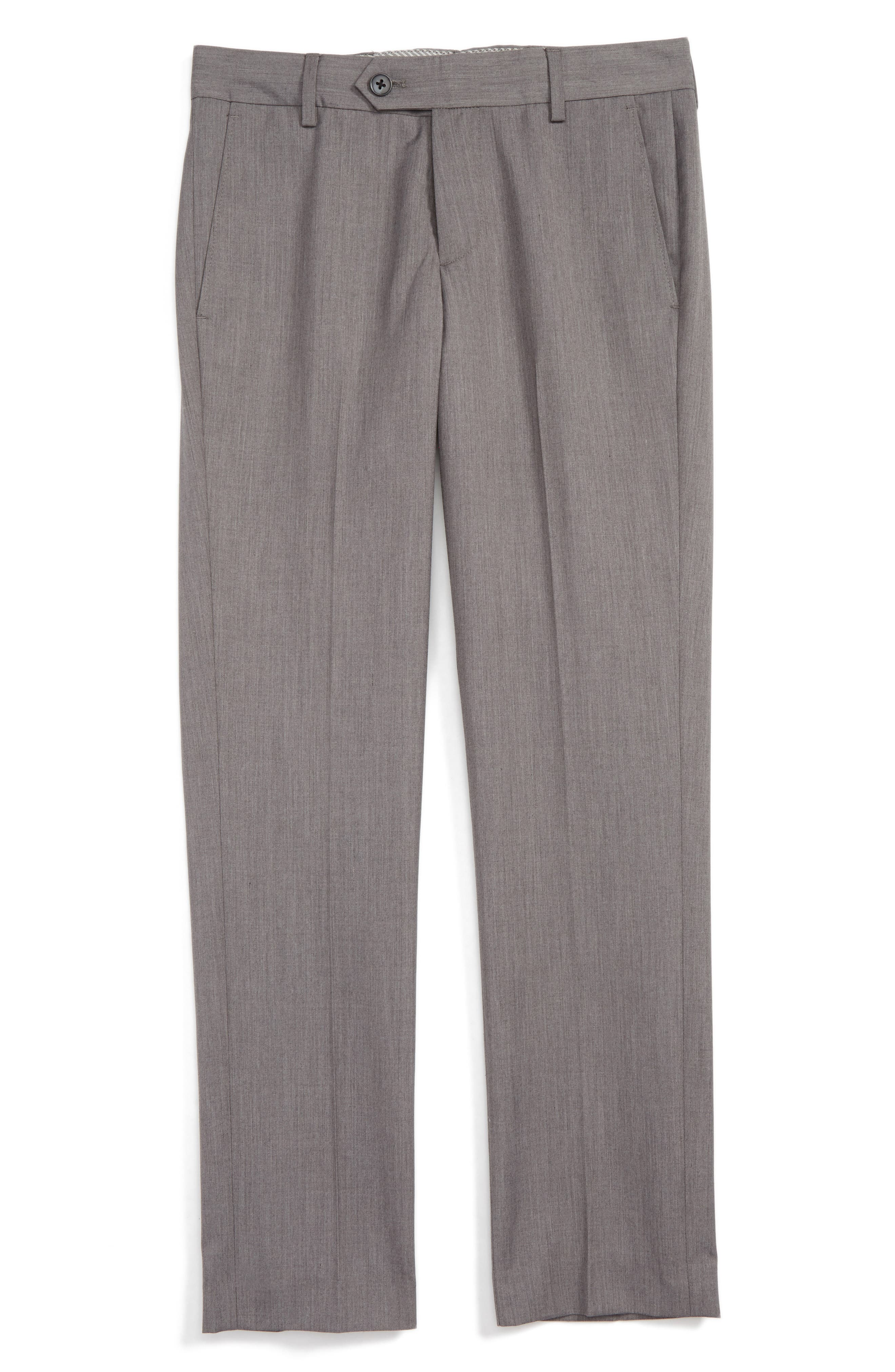 Nordstrom Elliott Slim Fit Flat Front Trousers (Toddler Boys, Little Boys & Big Boys)