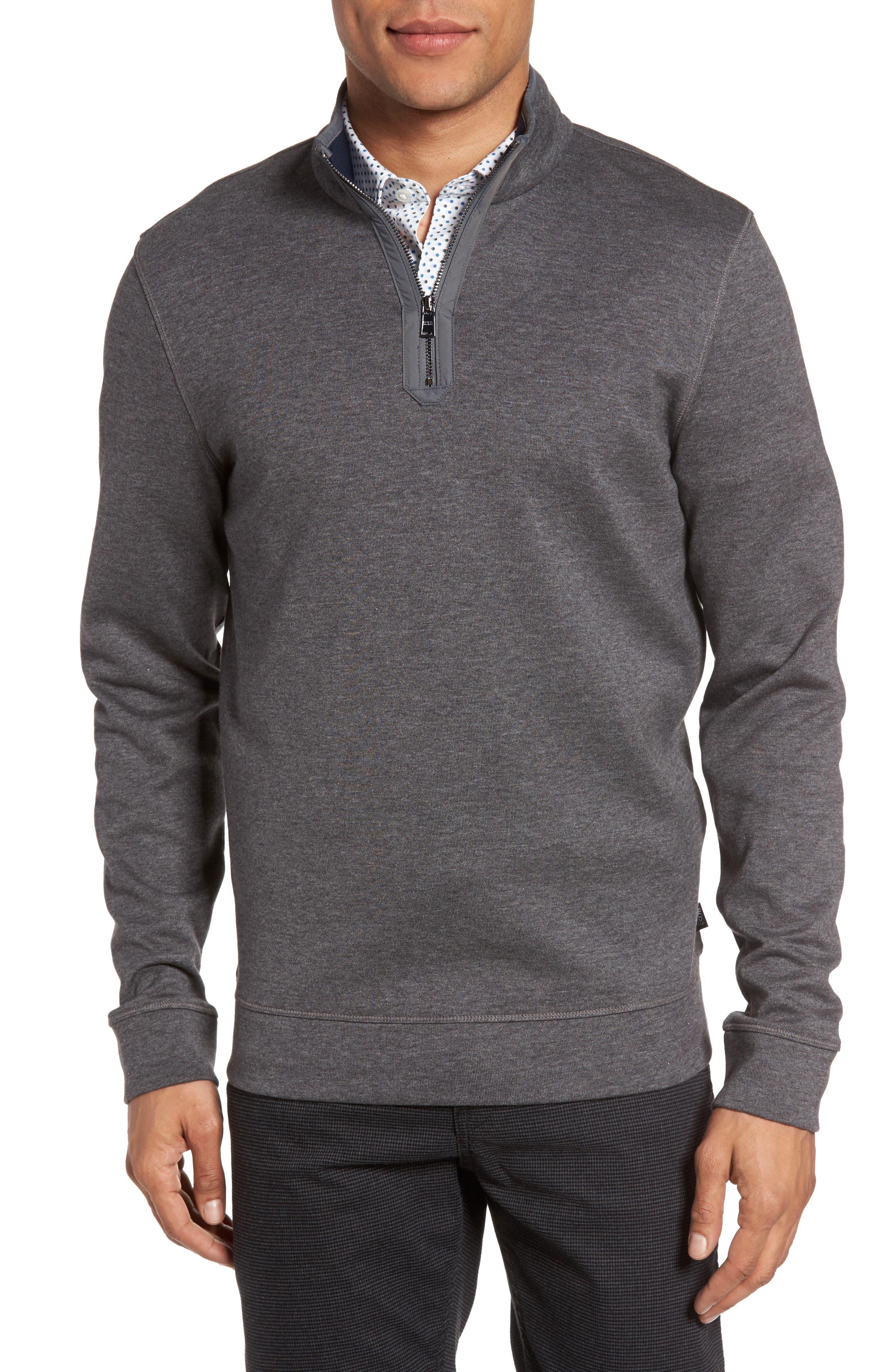 Main Image - BOSS Sidney Quarter Zip Pullover