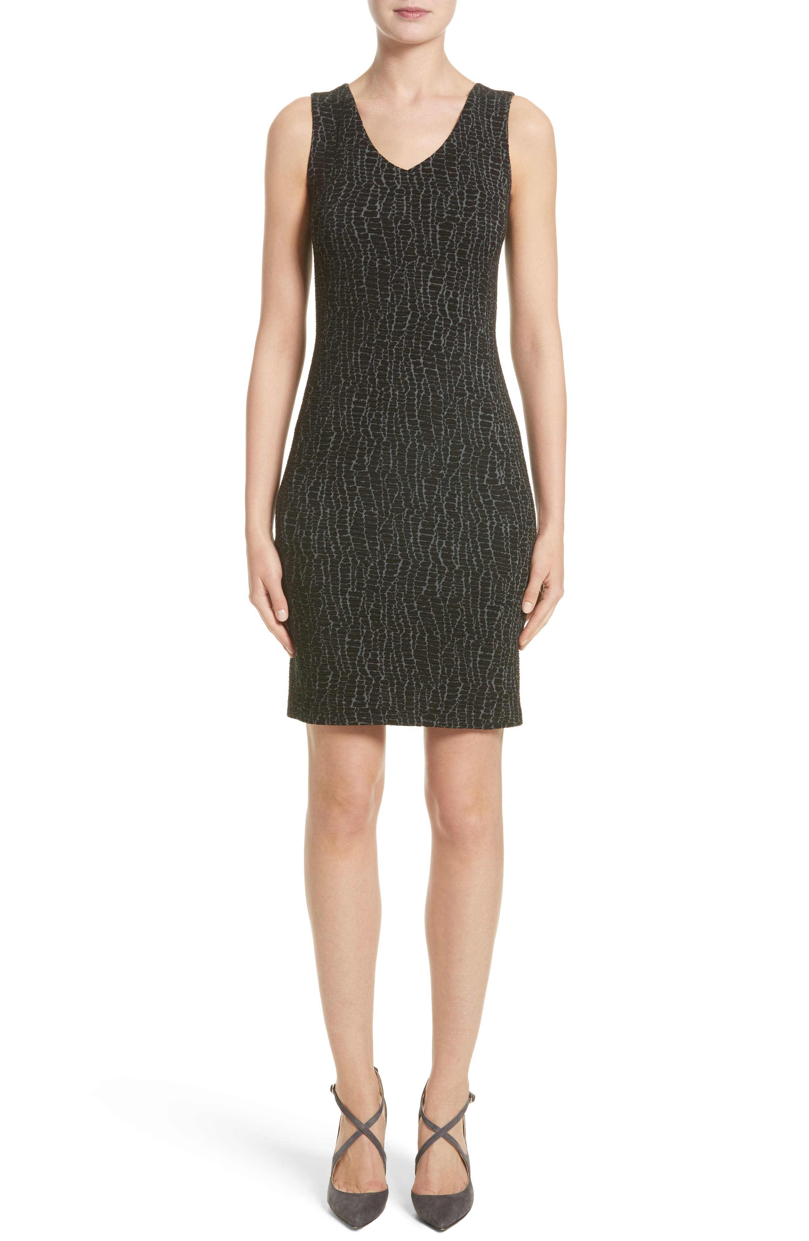 Armani Collezioni Snake Print Jersey Sheath Dress (Nordstrom Exclusive)