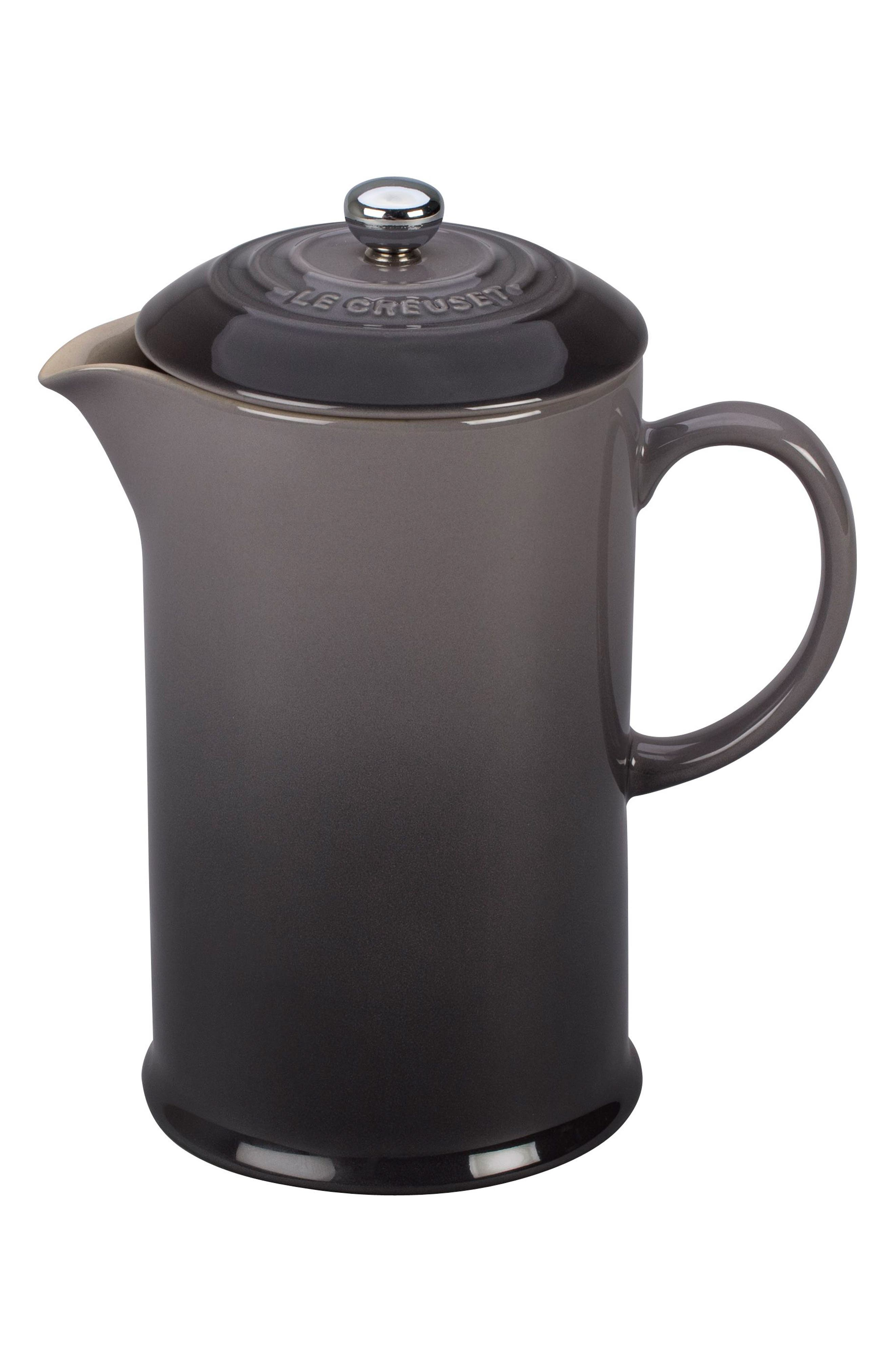 Stoneware French Press,                         Main,                         color, Oyster