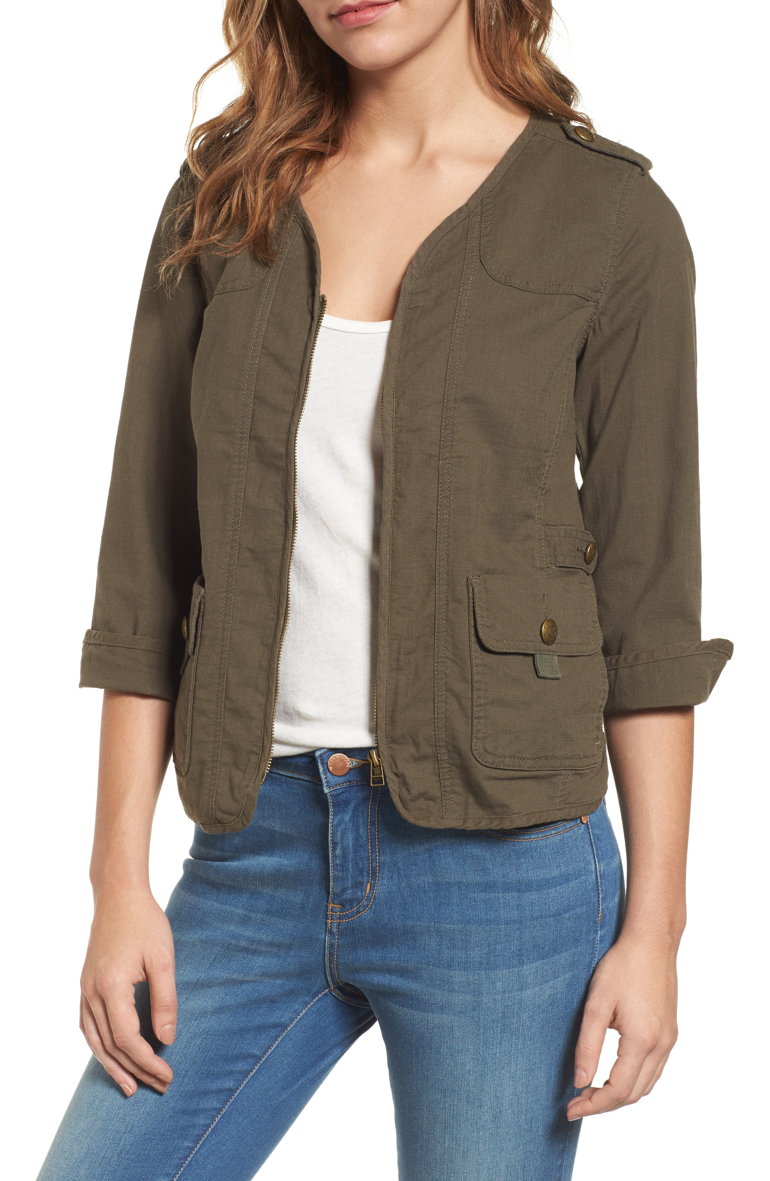 Main Image - Wit & Wisdom Knit Back Jacket (Nordstrom Exclusive)