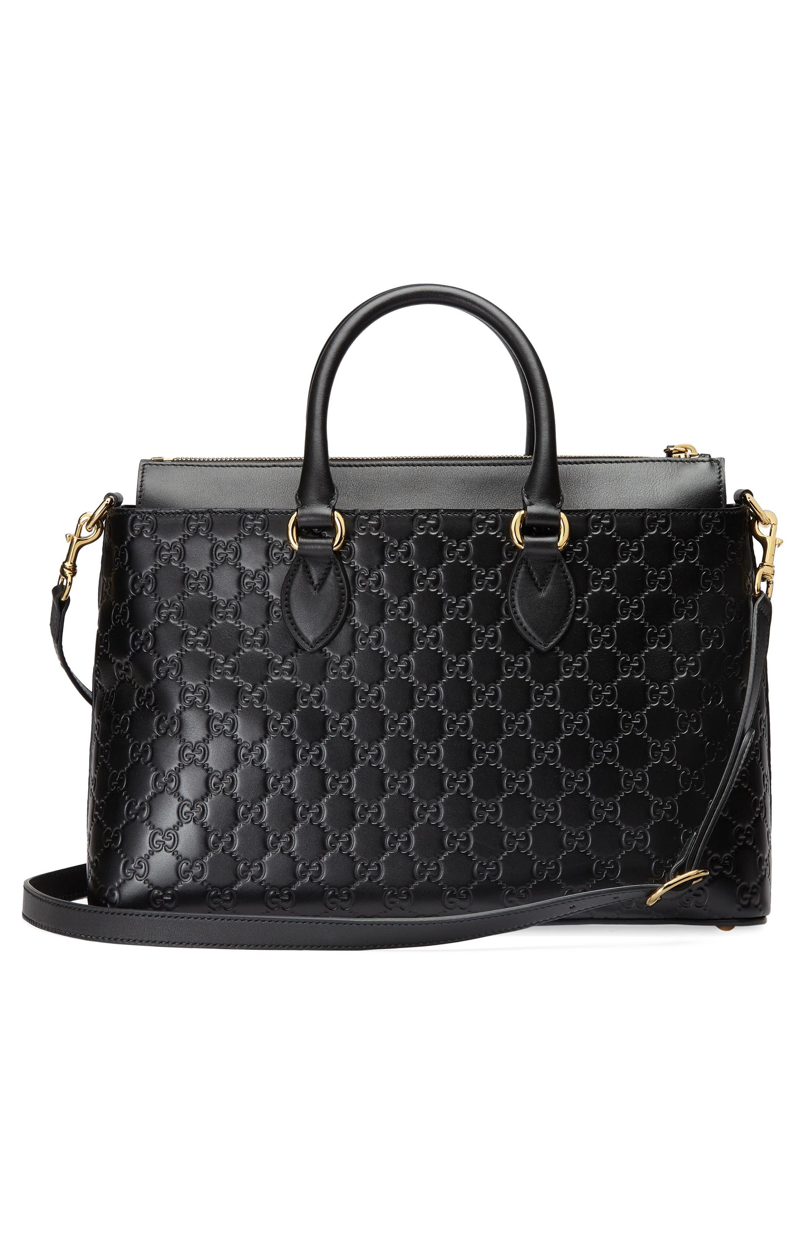 Alternate Image 2  - Gucci Medium Top Handle Signature Leather Tote