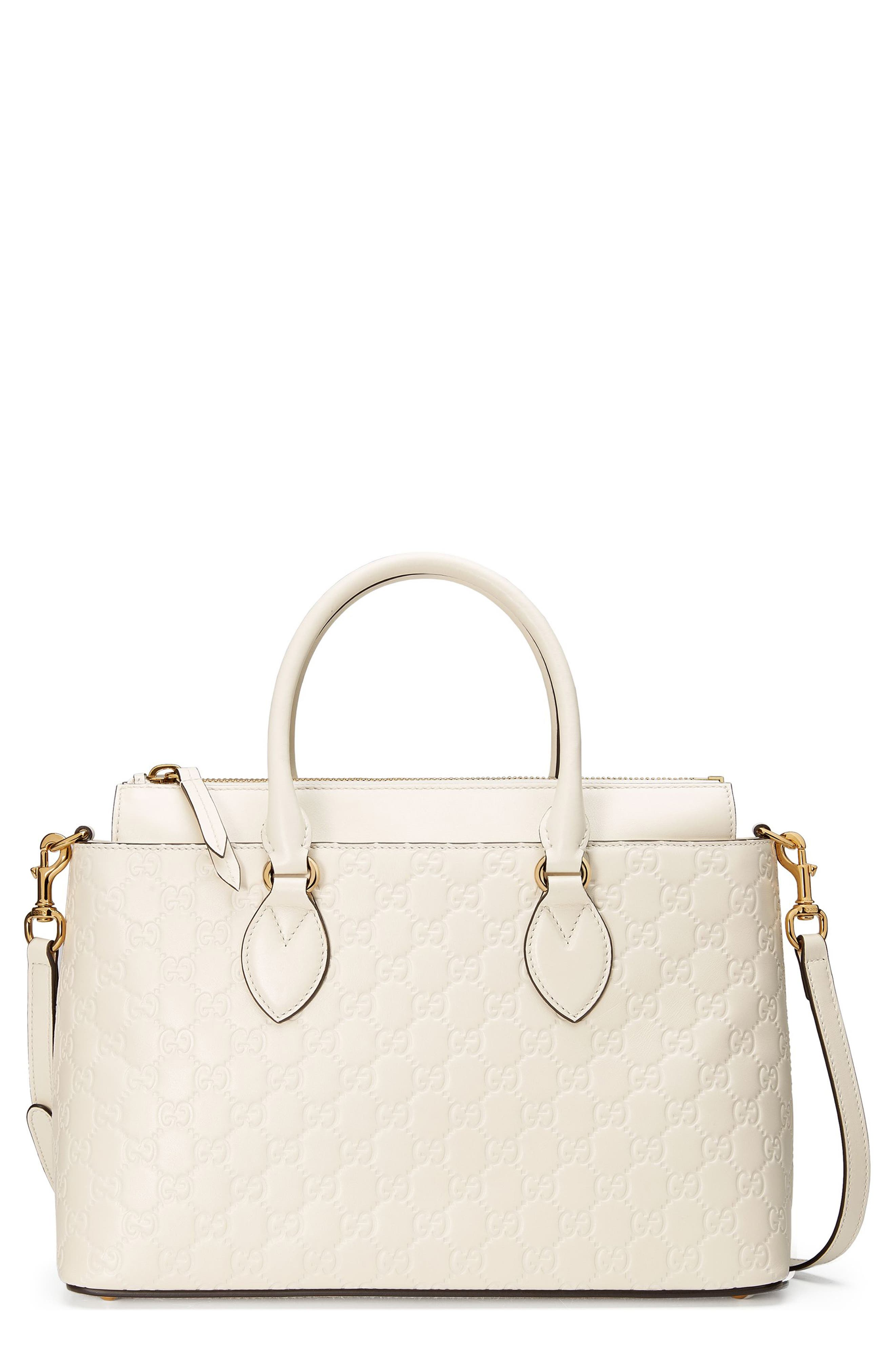 GUCCI Small Top Handle Signature Leather Satchel
