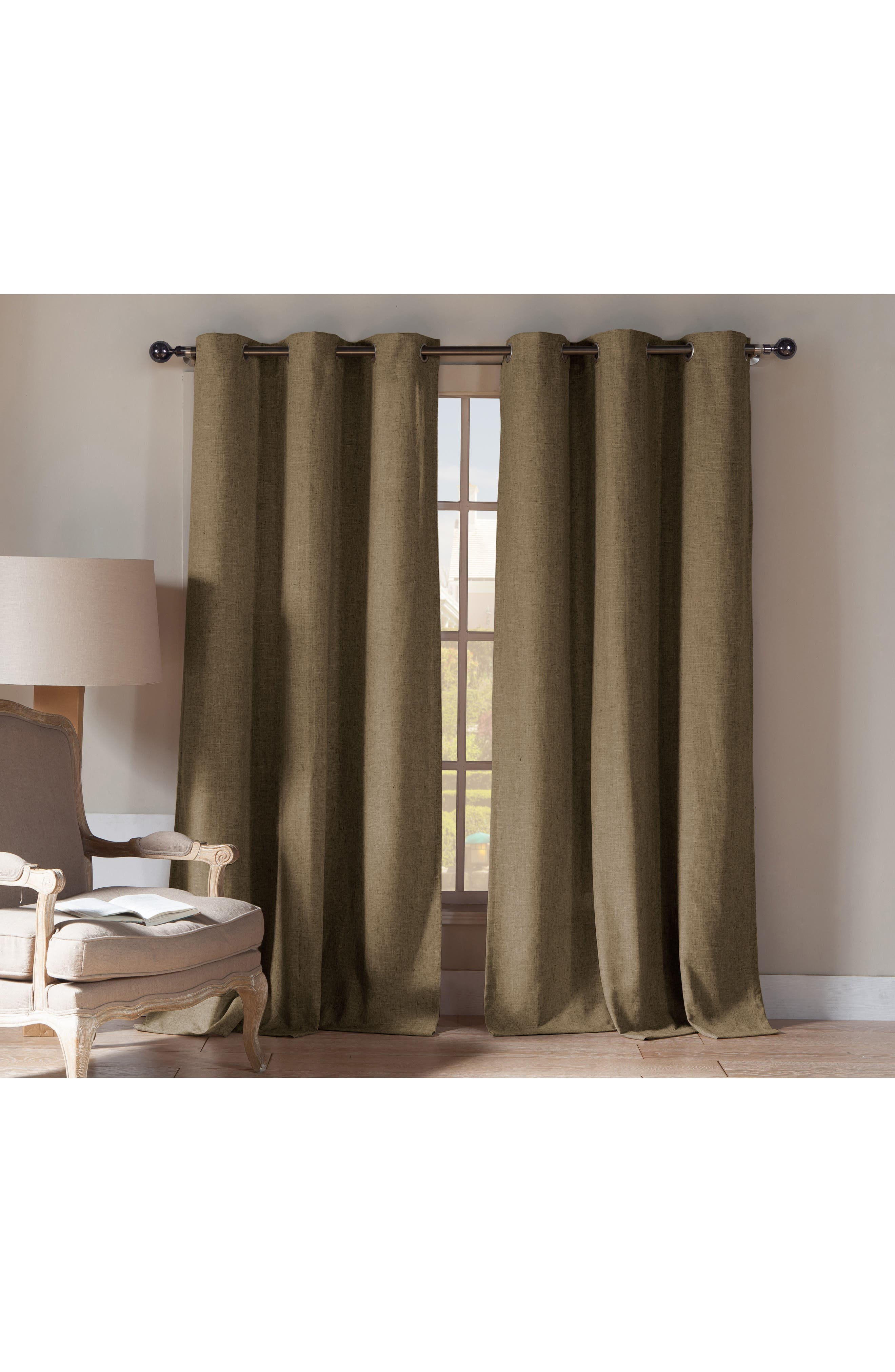 Duck River Textile Beya Natural Blackout Pole Top Window Panels