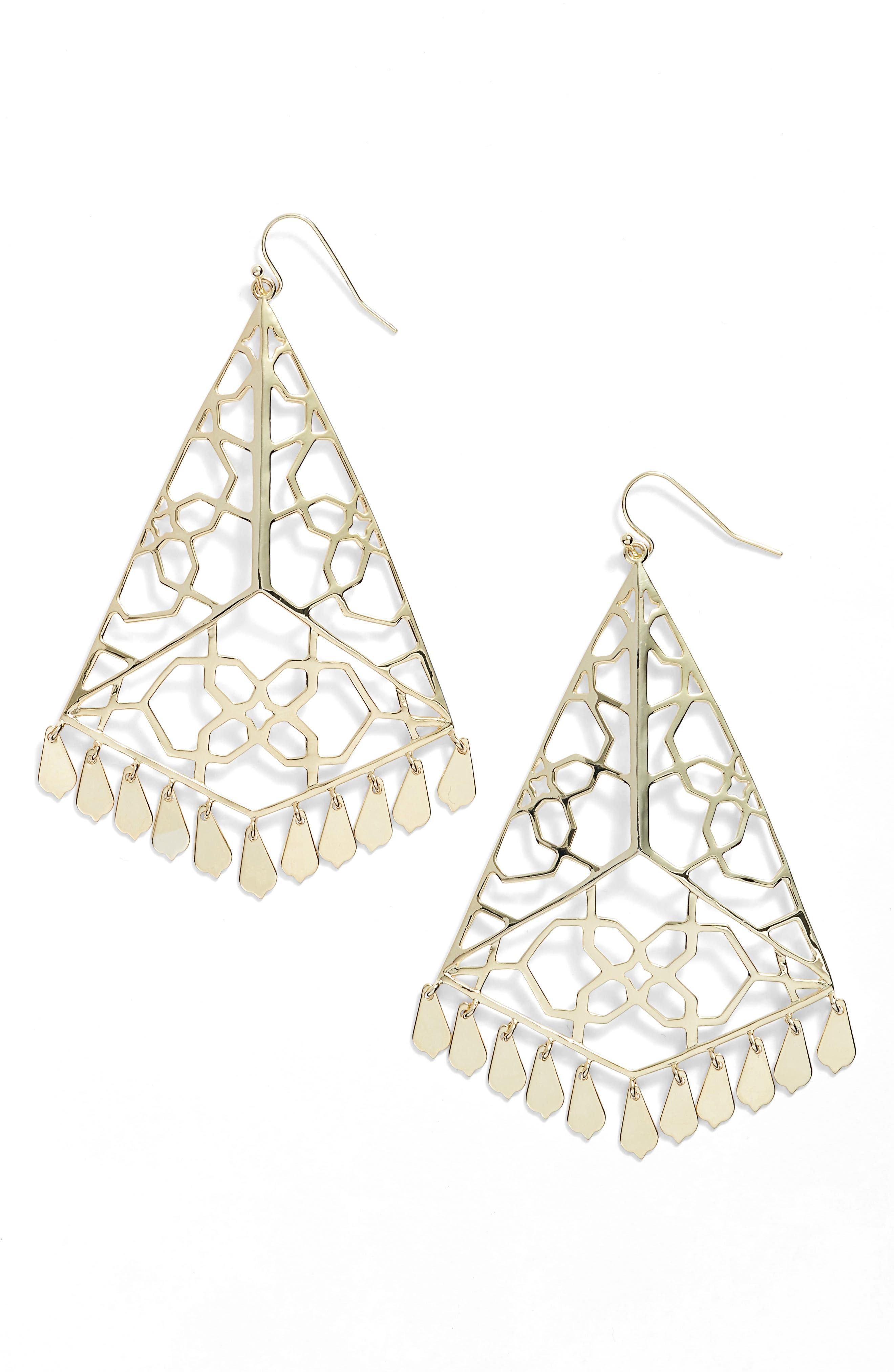 Samira Drop Earrings,                             Main thumbnail 1, color,                             Gold Metal