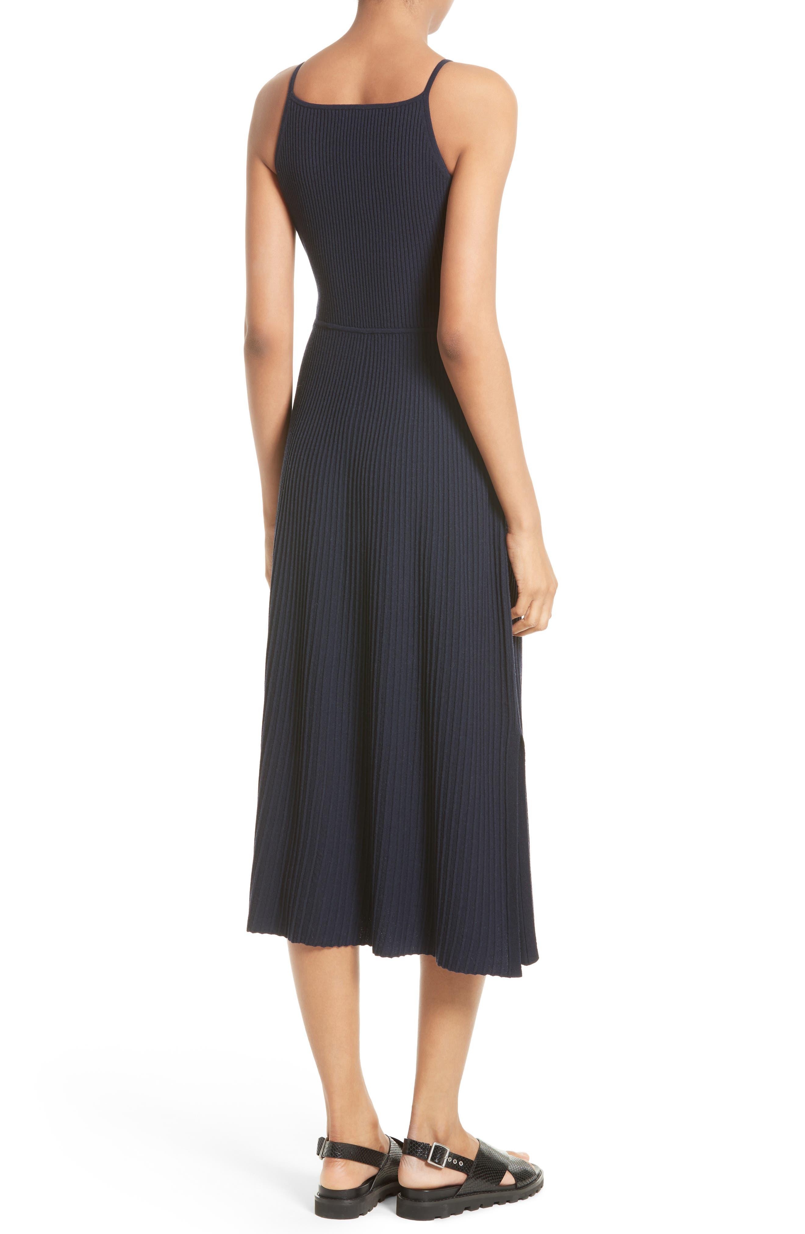 Josette Merino Wool Blend Apron Dress,                             Alternate thumbnail 2, color,                             Navy