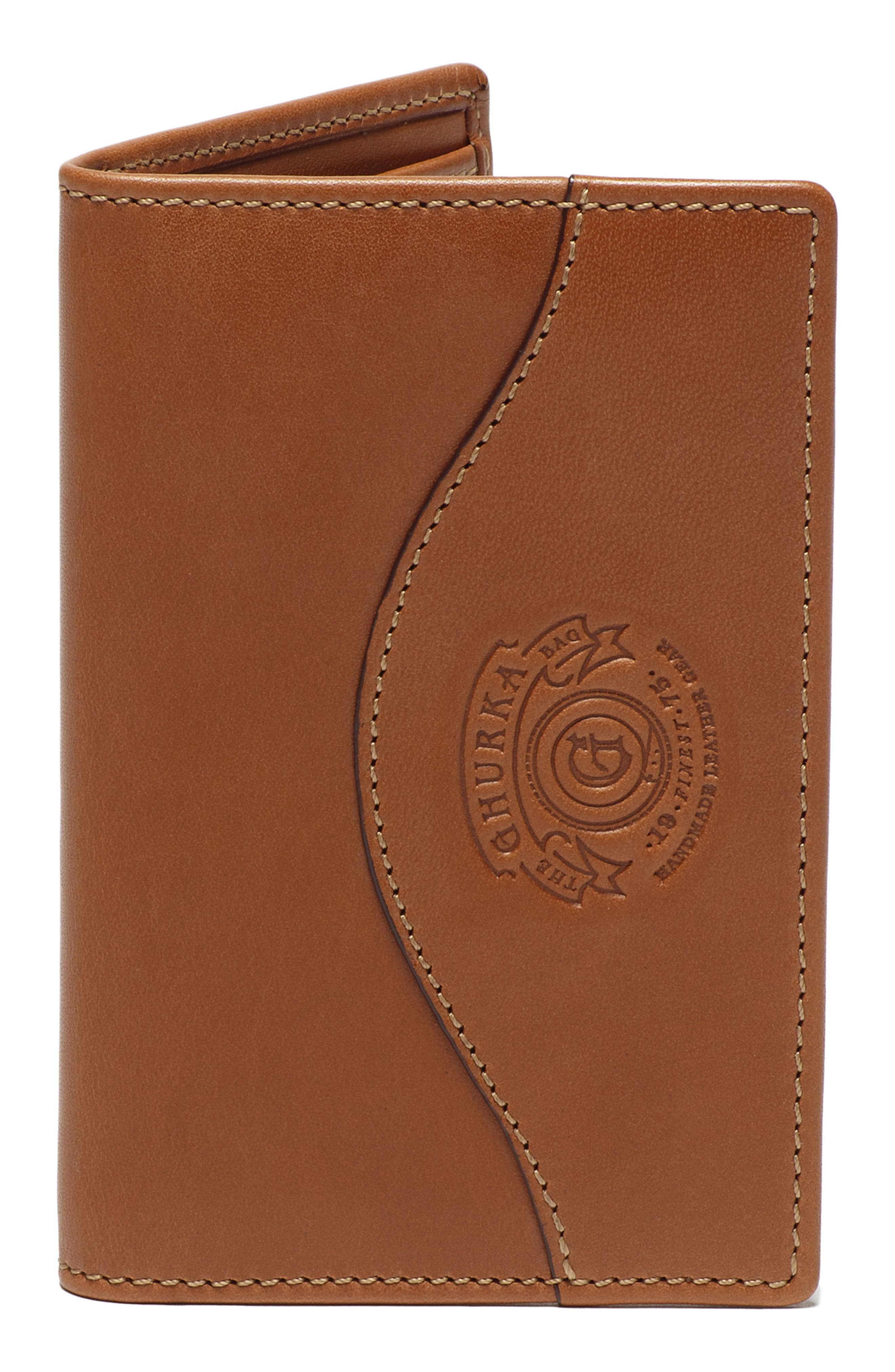 GHURKA Ghukra Folding Leather Card Case