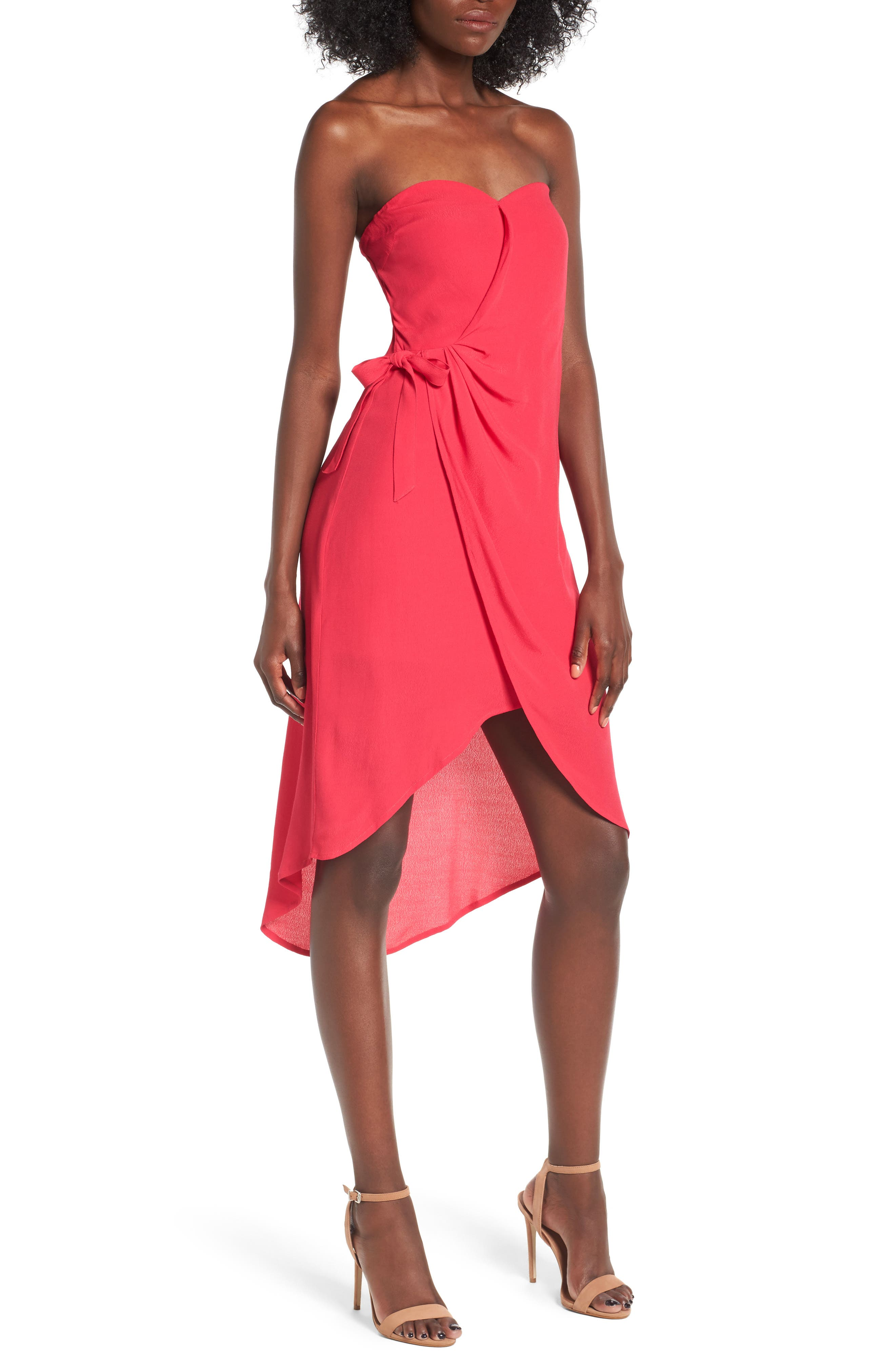 ASTR the Label Josefina Strapless Dress