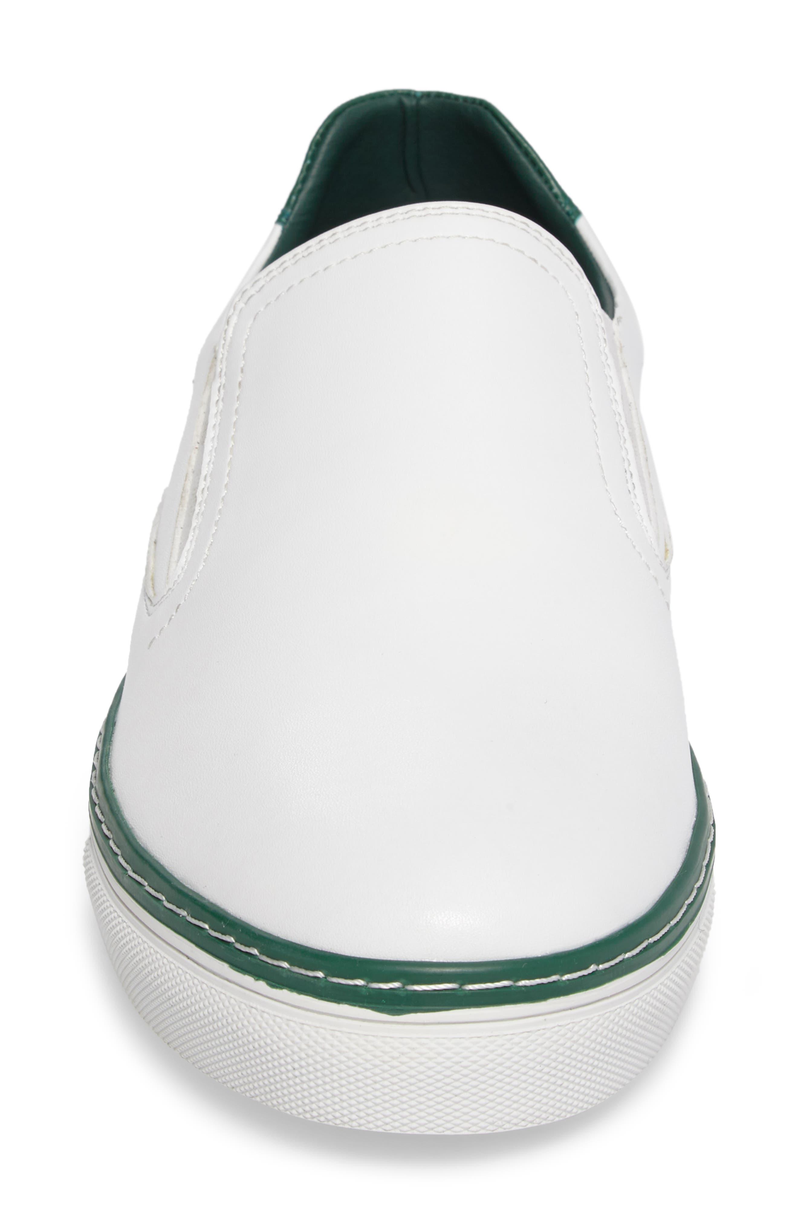Dollis Slip-On,                             Alternate thumbnail 4, color,                             White Leather