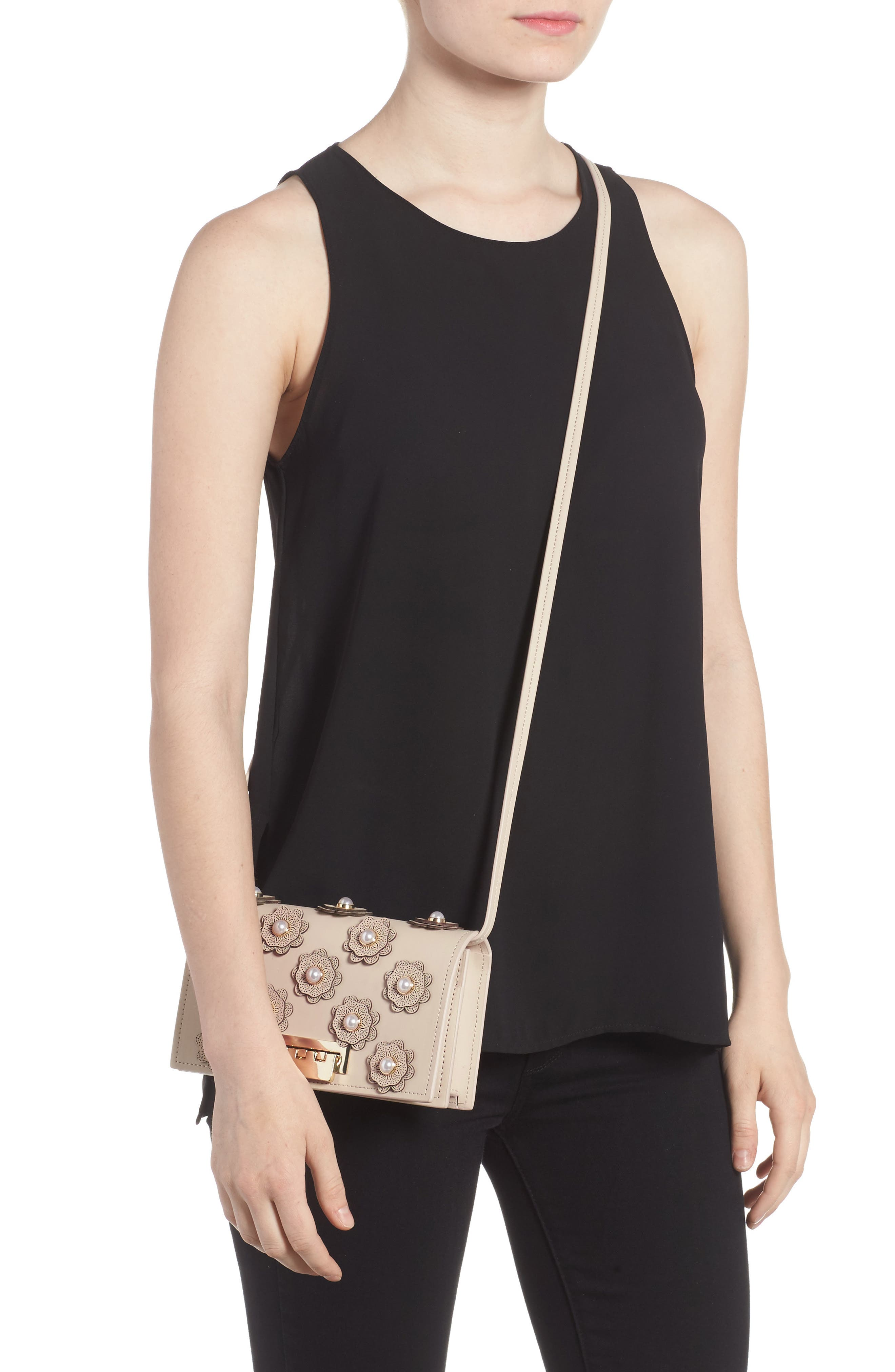Alternate Image 2  - ZAC Zac Posen Earthette Leather Crossbody Bag