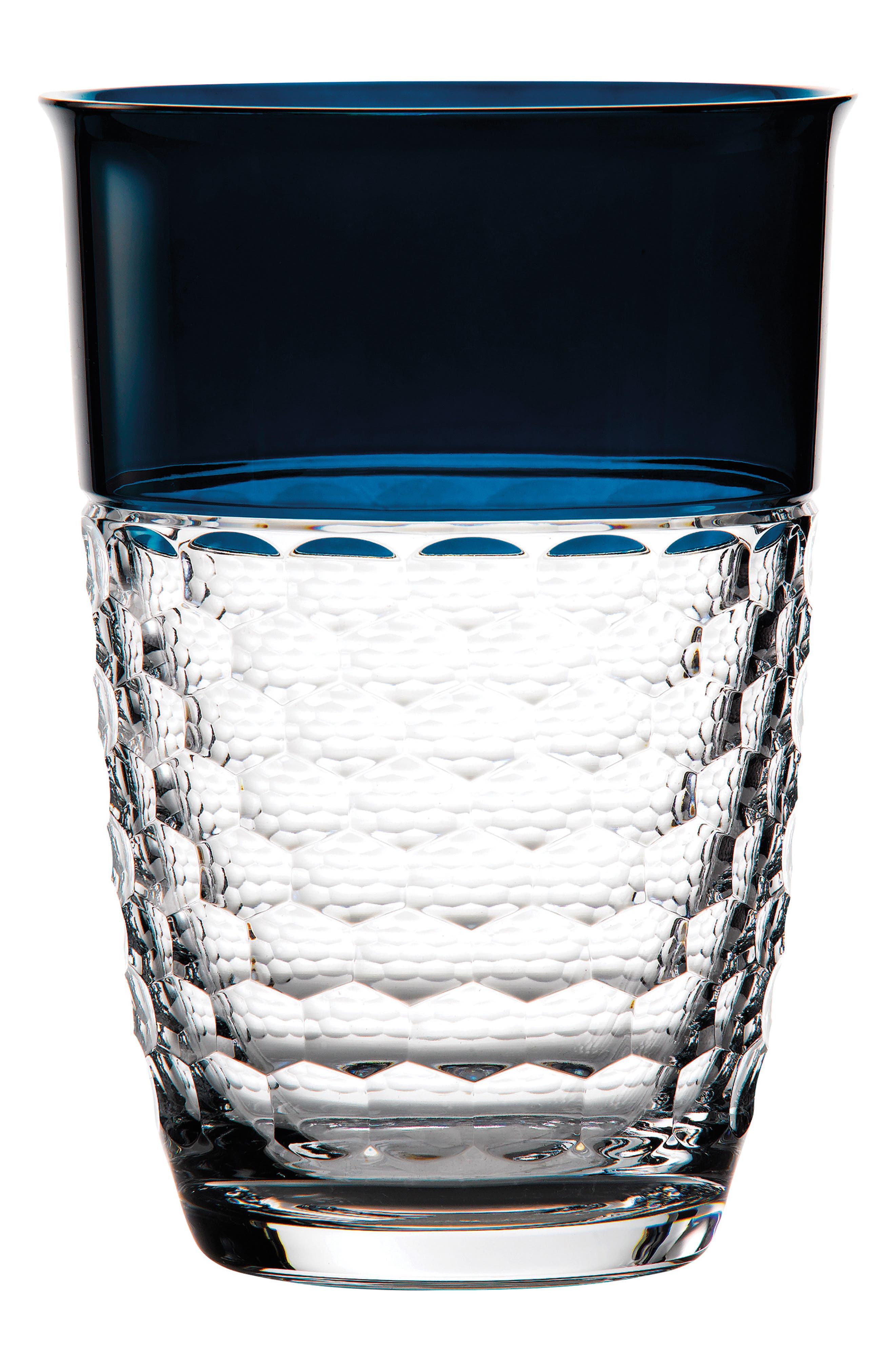 Jo Sampson Half & Half Teal Lead Crystal Vase,                         Main,                         color, Crystal