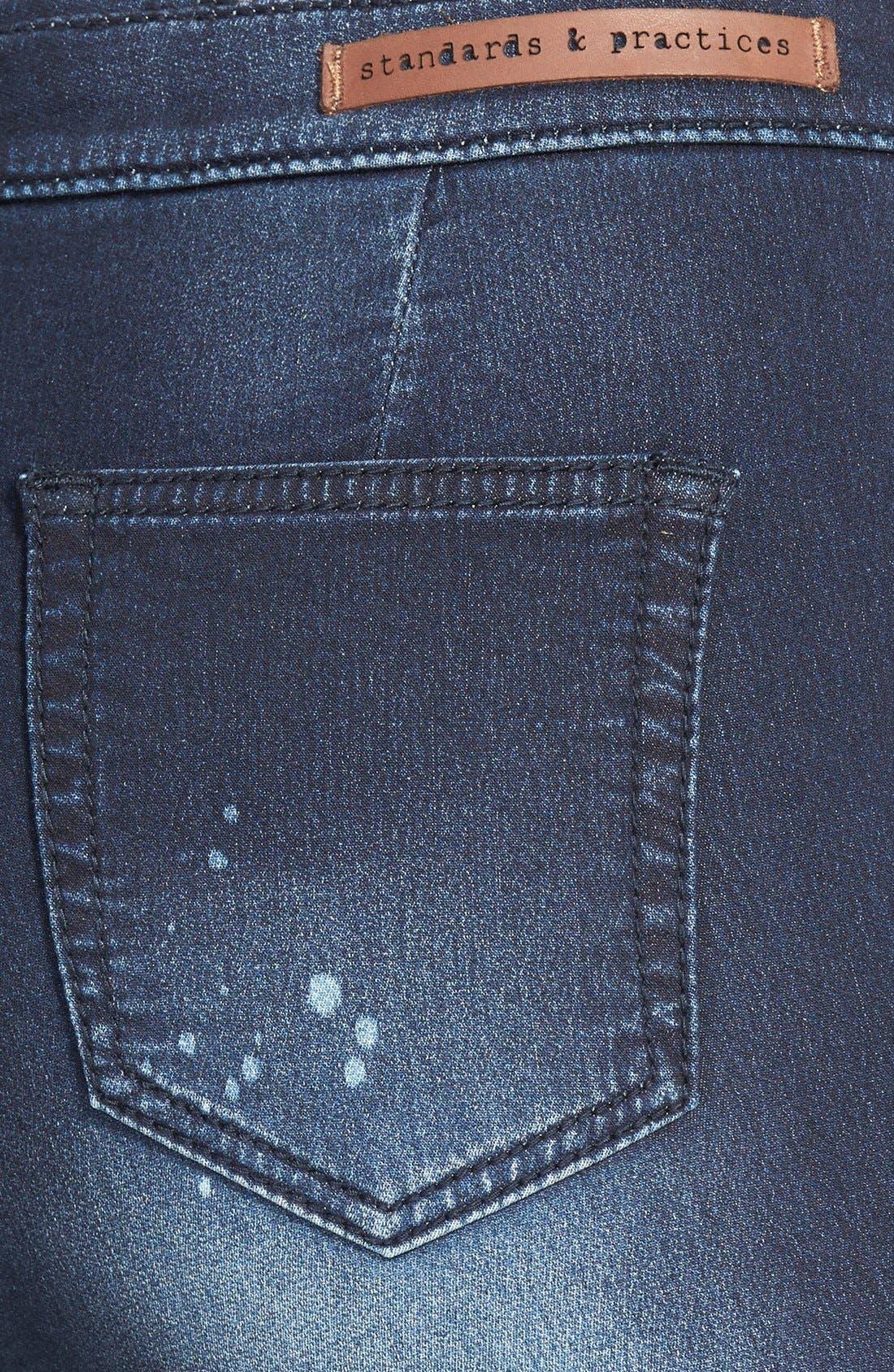 Alternate Image 3  - Standards & Practices Destroyed High Waist Skinny Jeans (Paint Splatter)