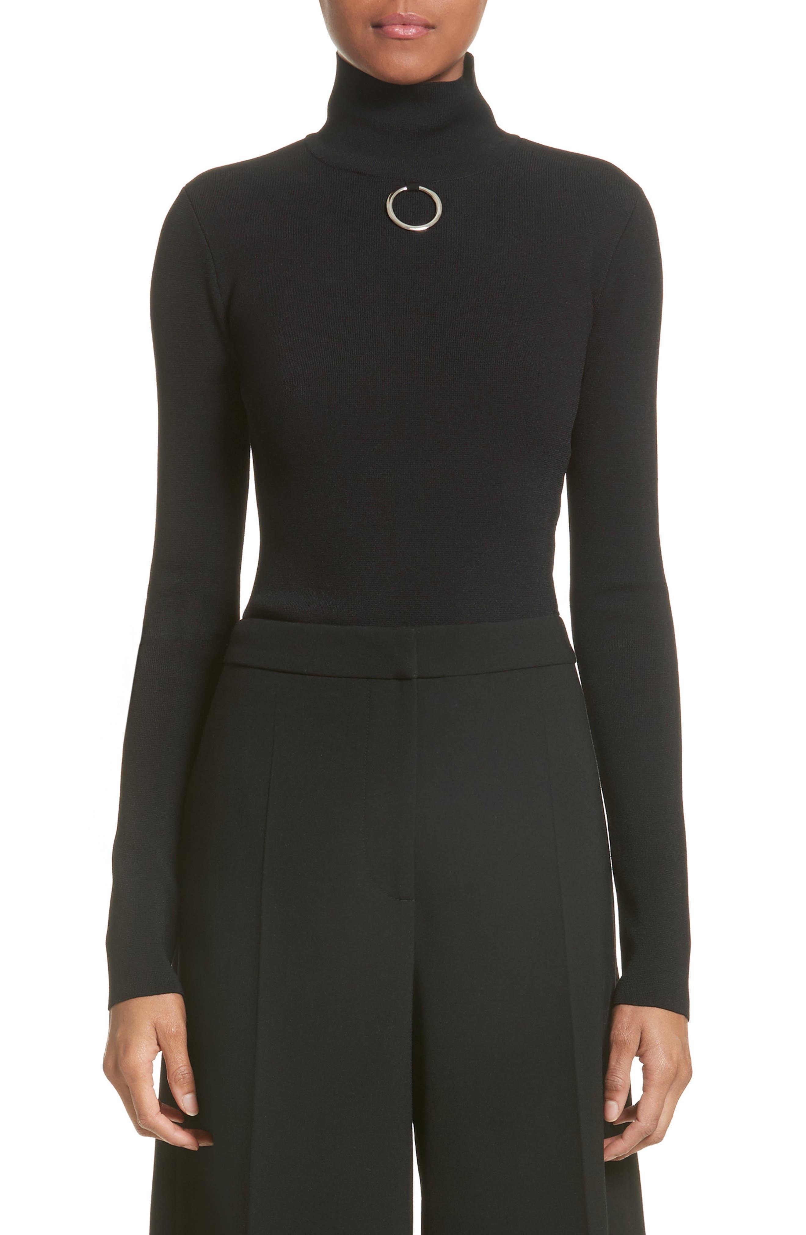 STELLA MCCARTNEY Ring Detail Turtleneck Sweater